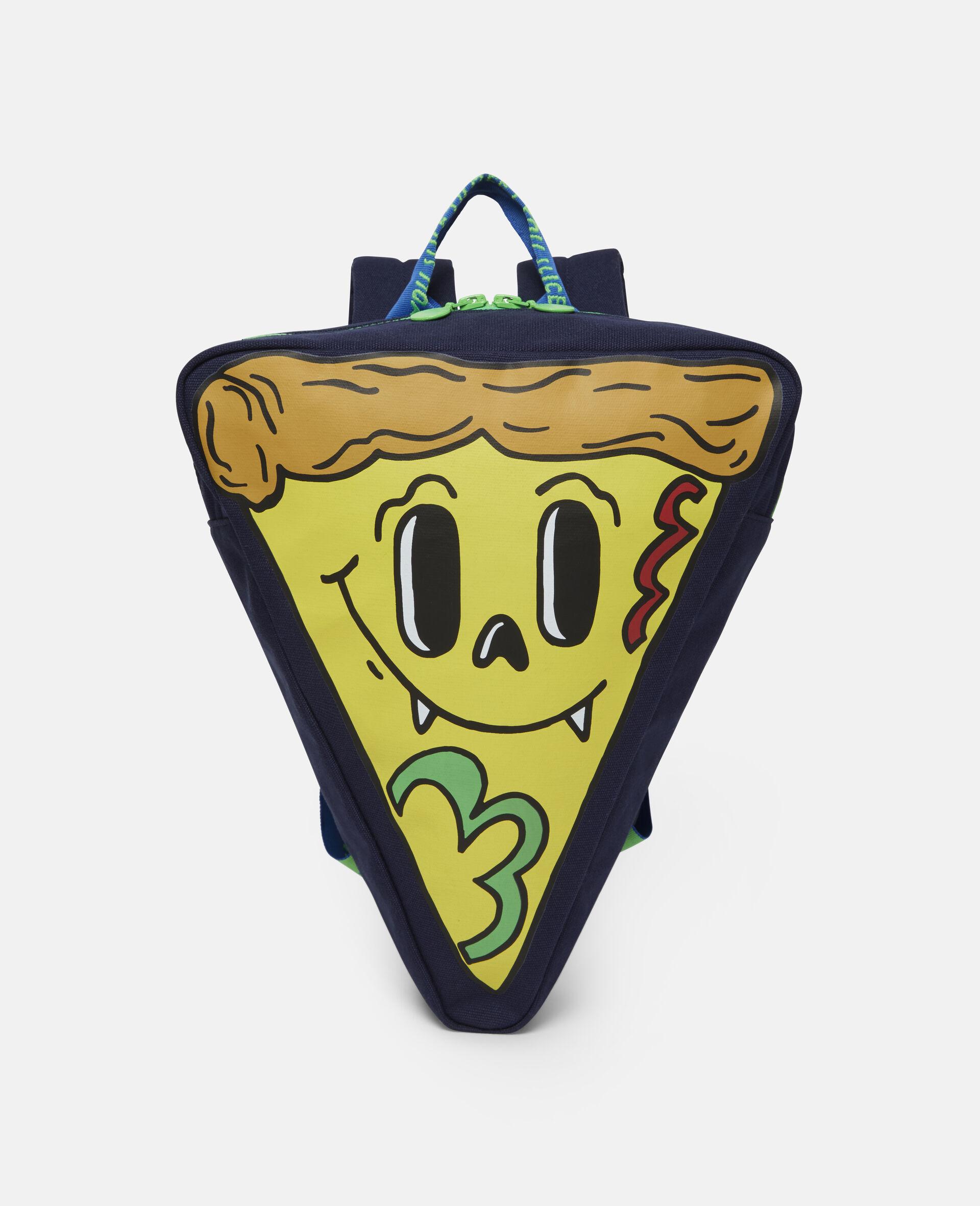 Pizza Slice Canvas Backpack-Blue-large image number 0