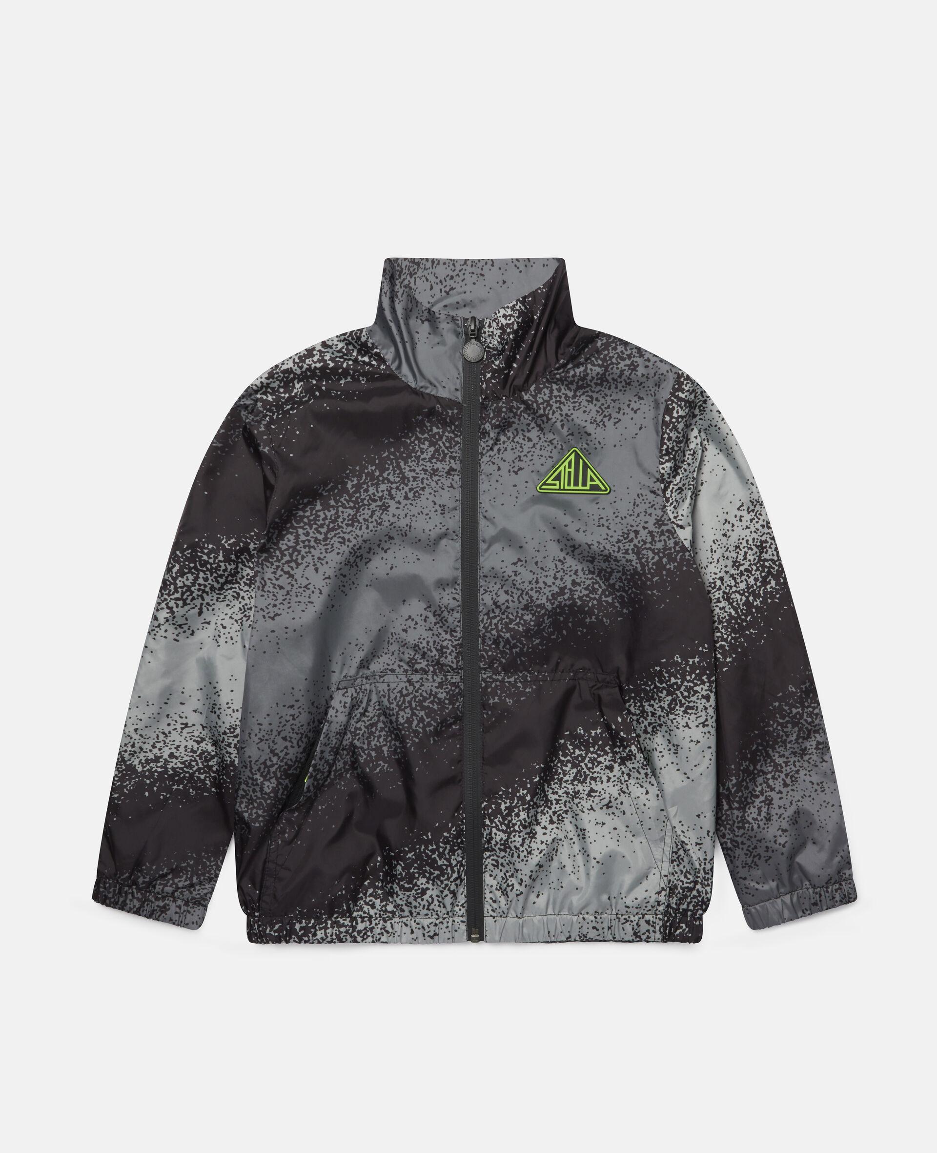 Spray Painted Effect Jacket-Grey-large image number 0