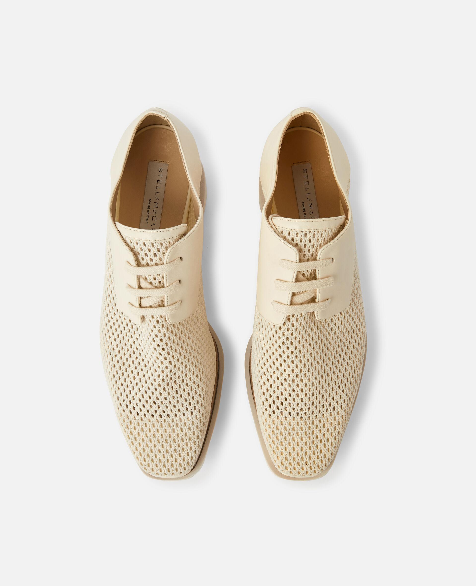 Chaussures compensées Elyse en mesh tissé -Blanc-large image number 3