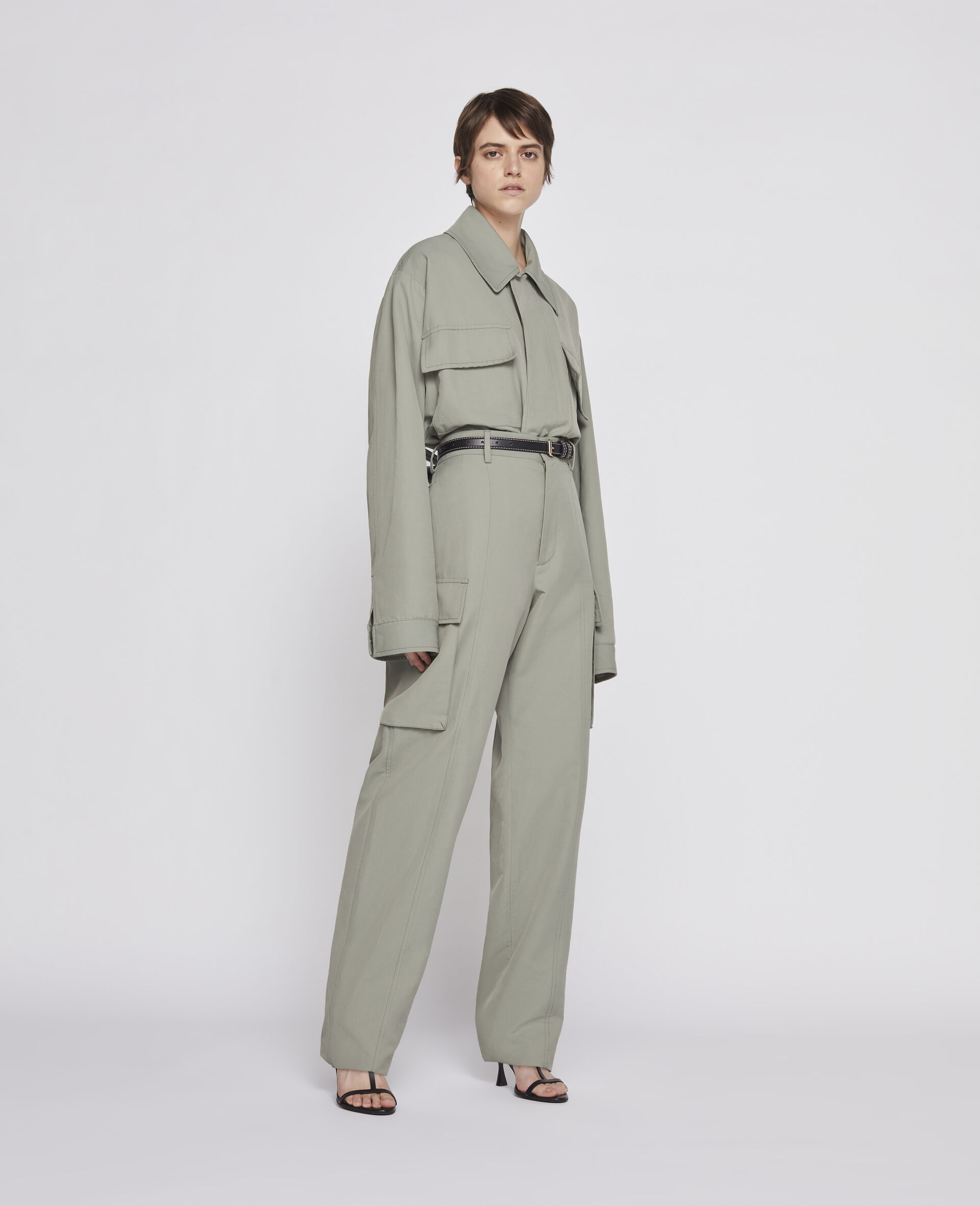 Khaki Trousers-Green-large image number 1