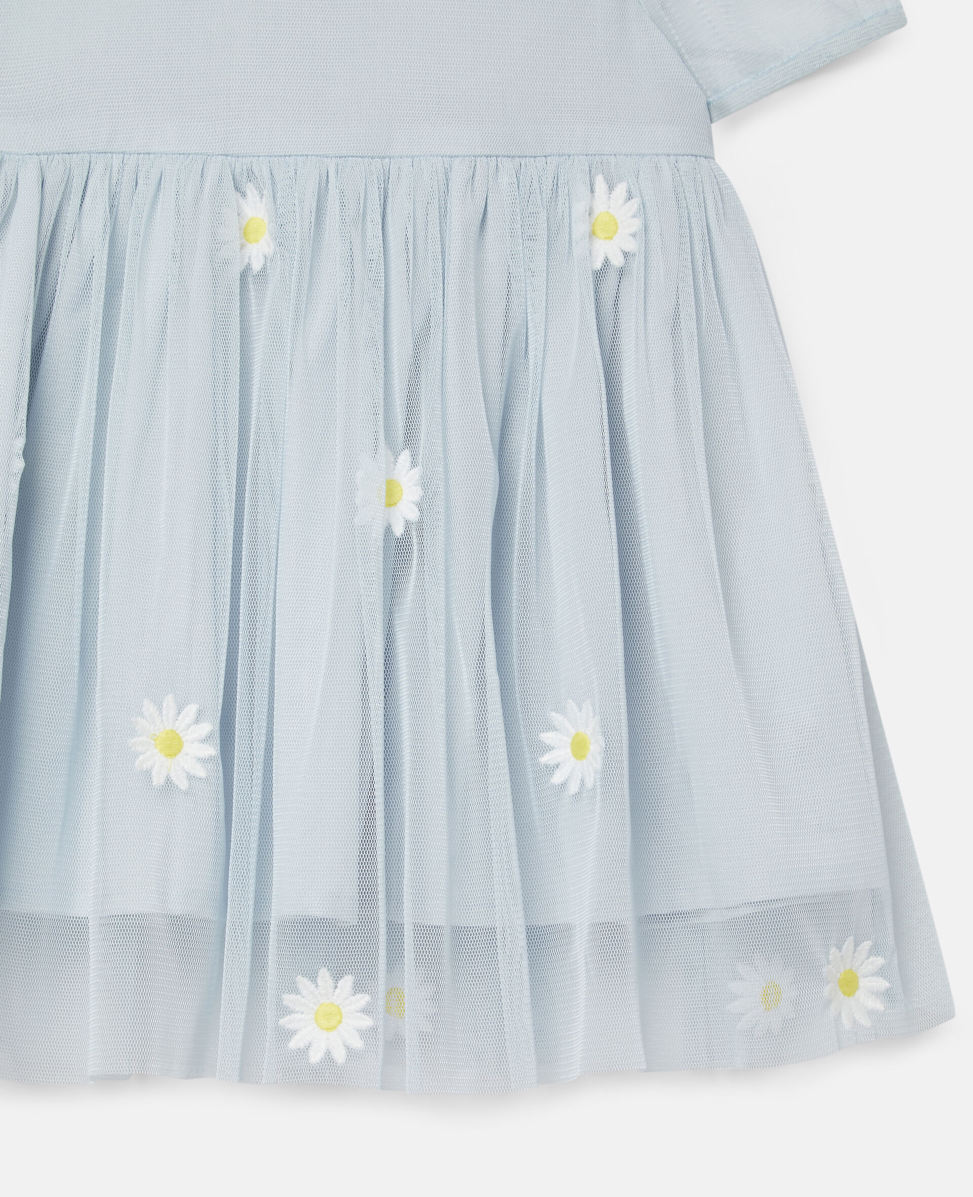 Embroidered Daisies Tulle Dress-Blue-large image number 2
