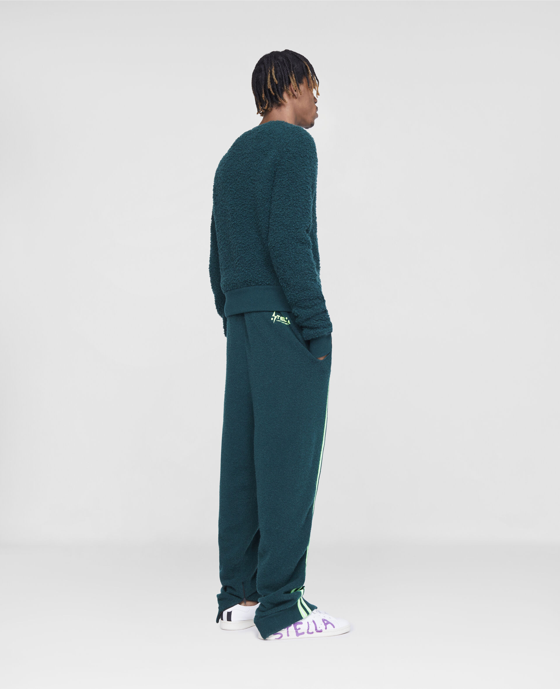 Pantaloni da Training con Logo Stella Tom Tosseyn-Verde-large image number 2