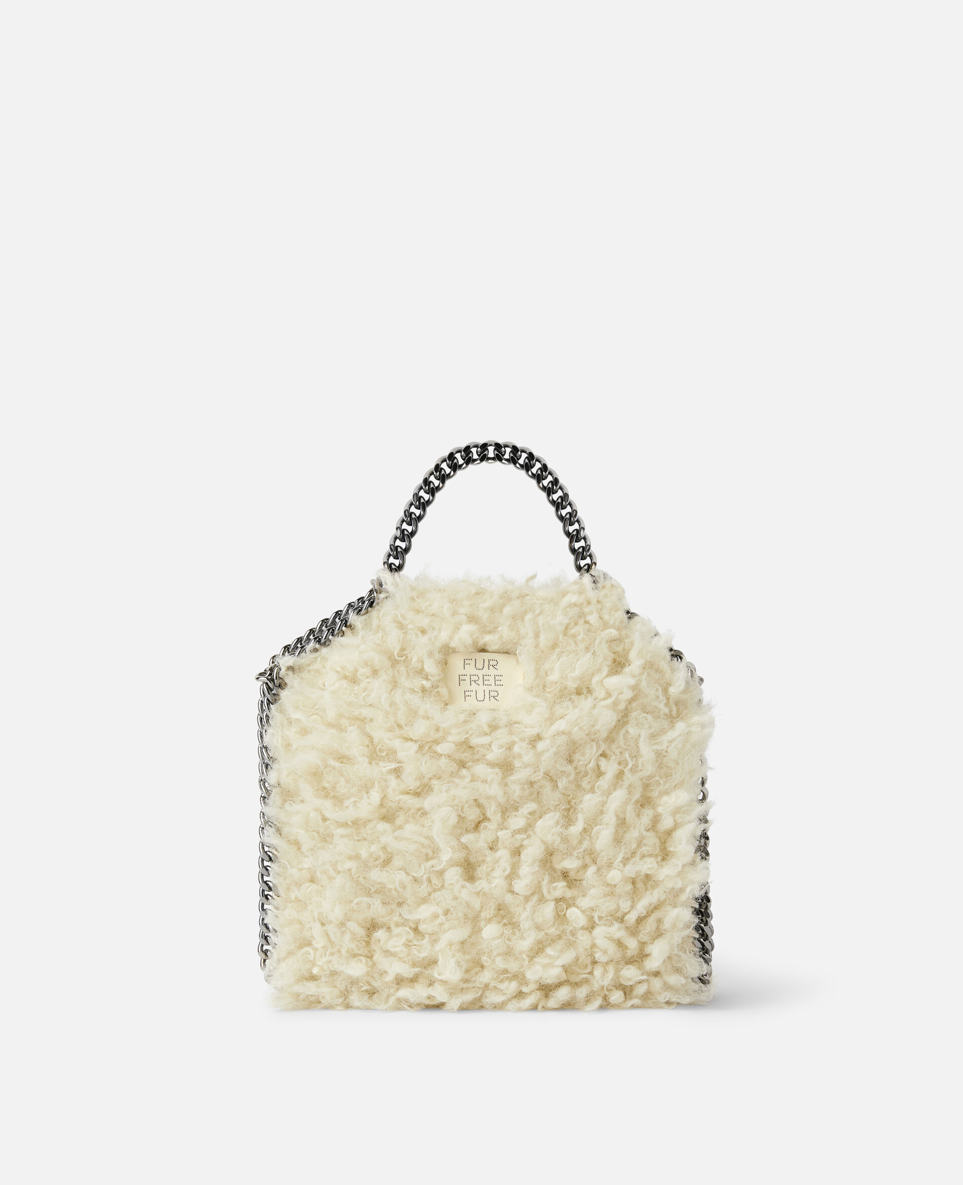 Falabella FFF Tiny Tote-White-large image number 2