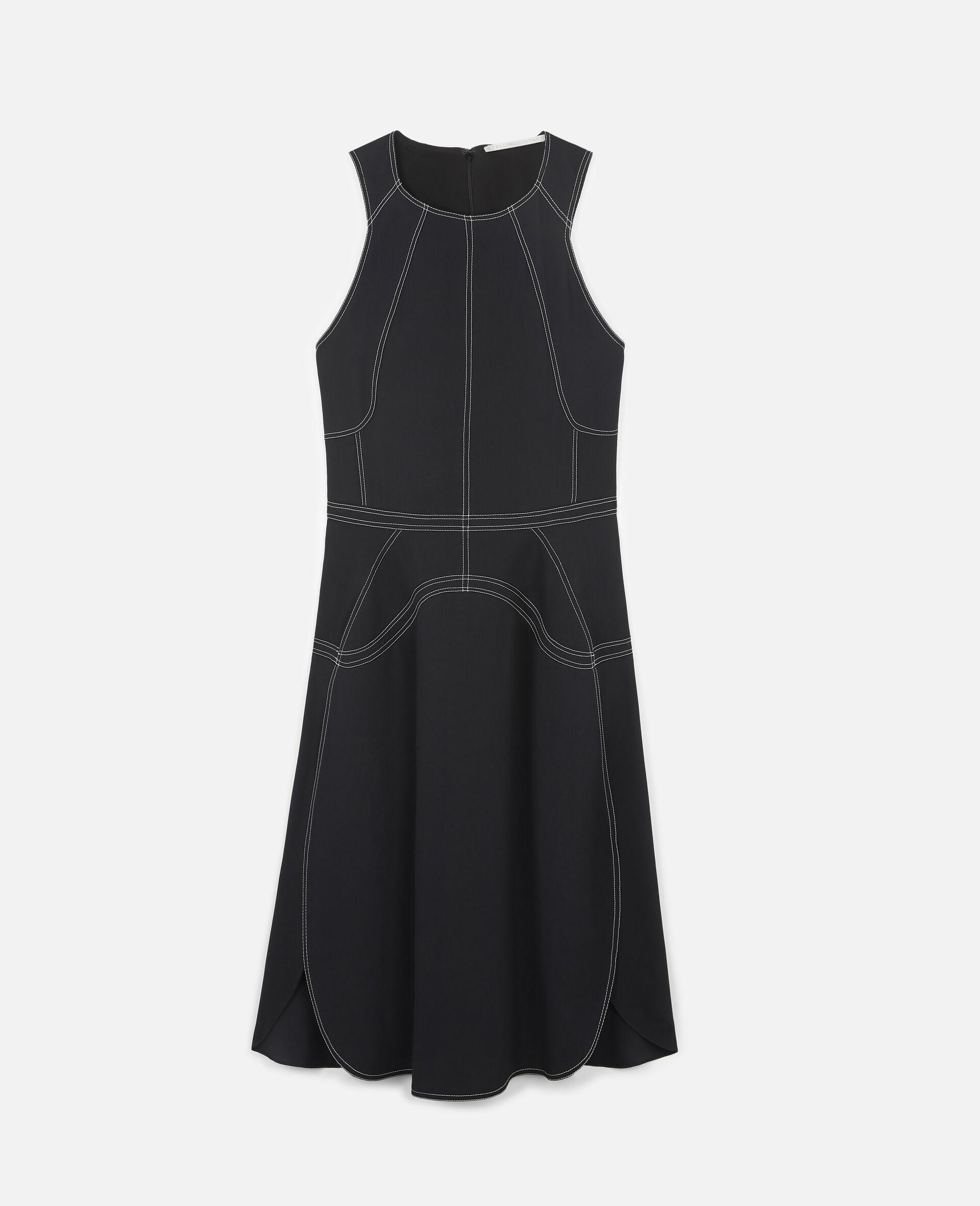 Amber 中长连衣裙-黑色-large image number 0