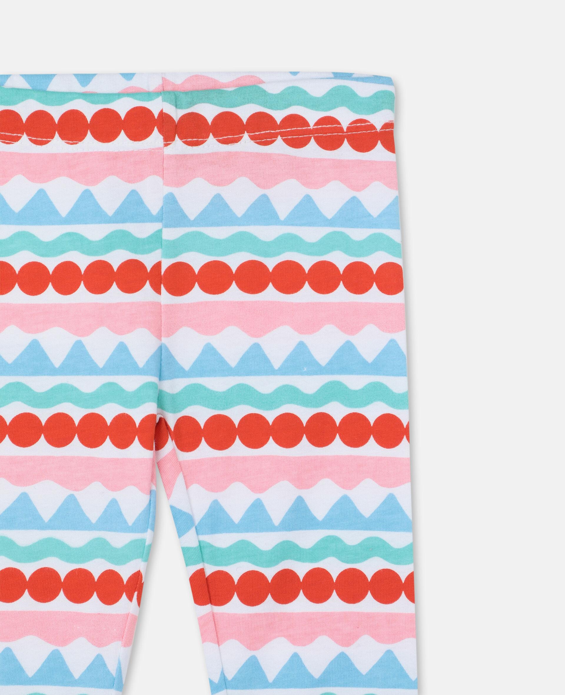 Graphic Striped Leggings-Multicolour-large image number 1