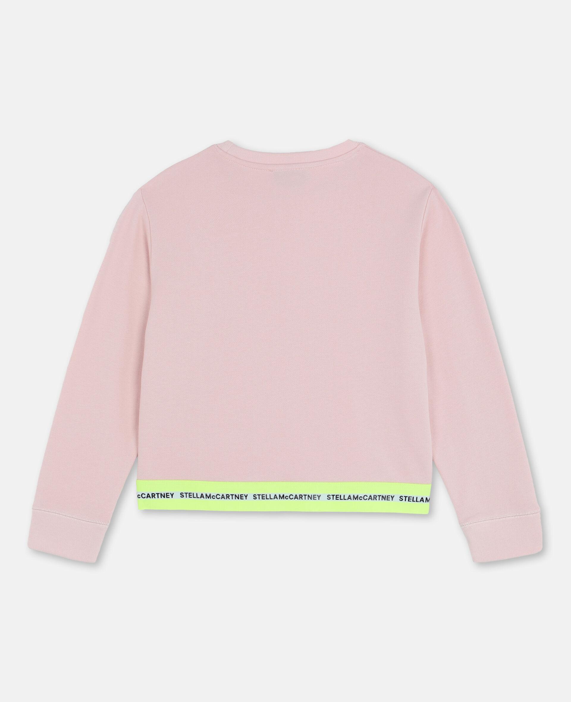 Sportliches Baumwollfleece-Sweatshirt mit Logo-Rose-large image number 3
