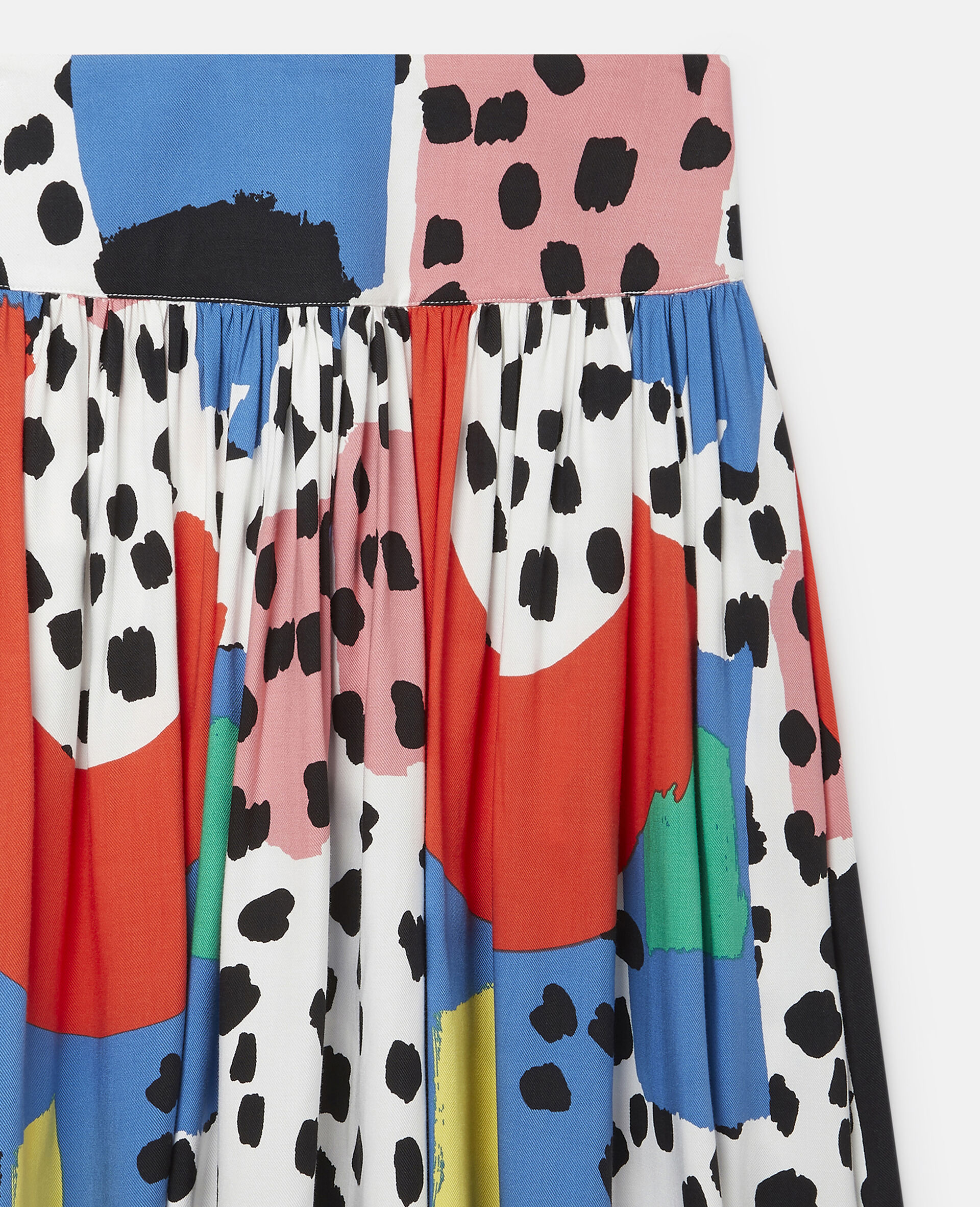 Dalmatian Spots Twill Skirt-Multicolour-large image number 1