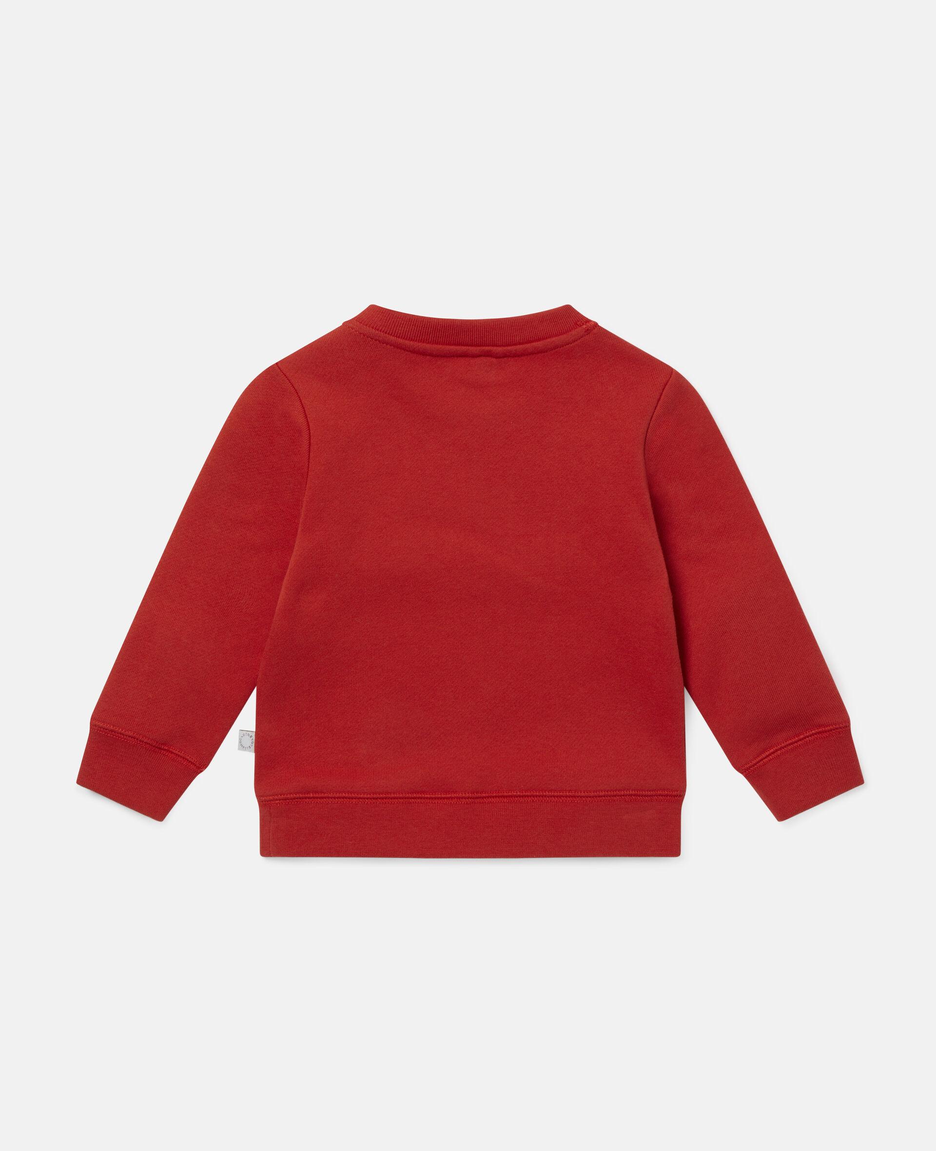 Rainbow Painting Tubes Fleece Sweatshirt-Red-large image number 3