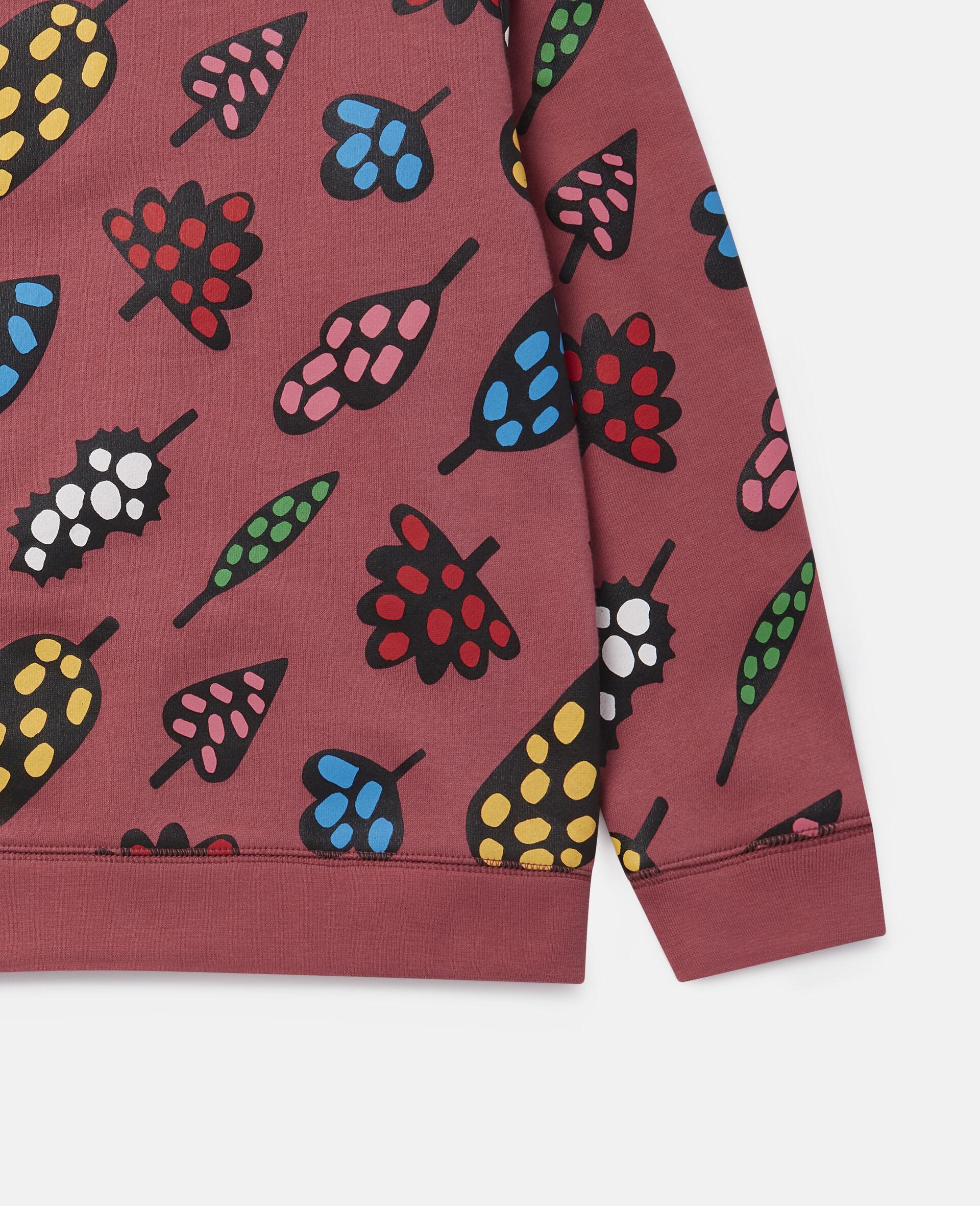 Spotty Leaves Cotton Fleece Sweatshirt -Multicolour-large image number 1
