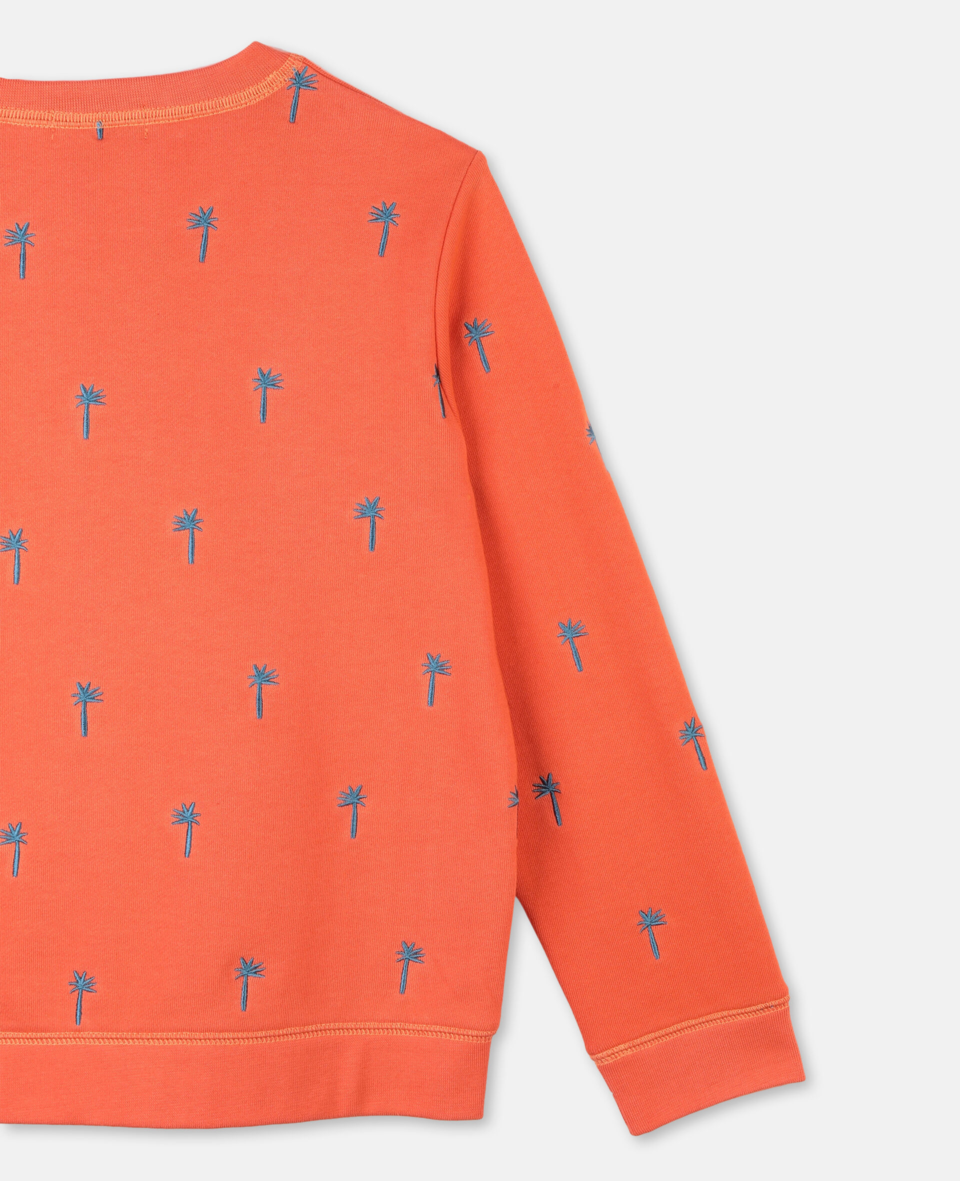 Embroidered Palm Cotton Sweatshirt -Red-large image number 1