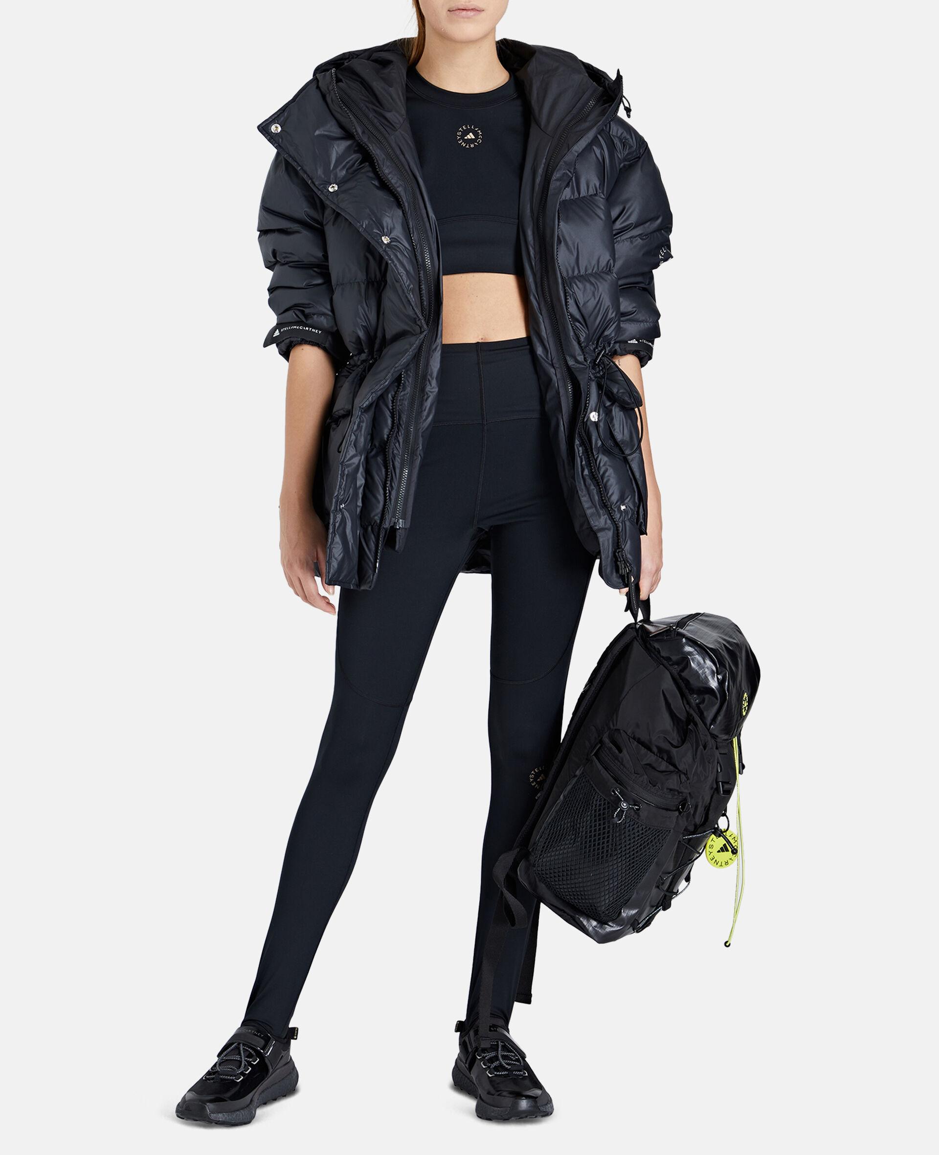 2-in-1 Mid-Length Padded Jacket-Black-large image number 1