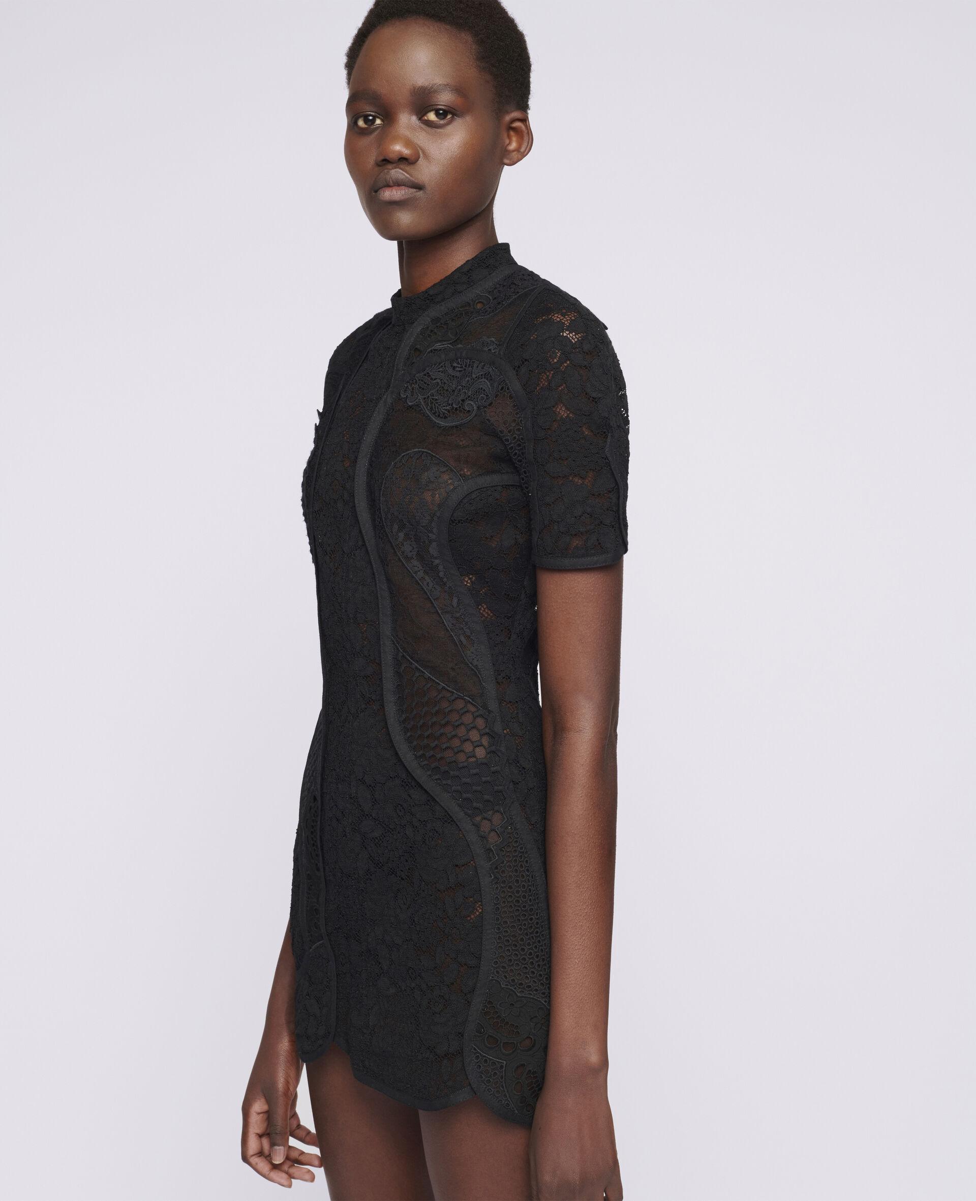 Edith Mini Dress-Black-large image number 3