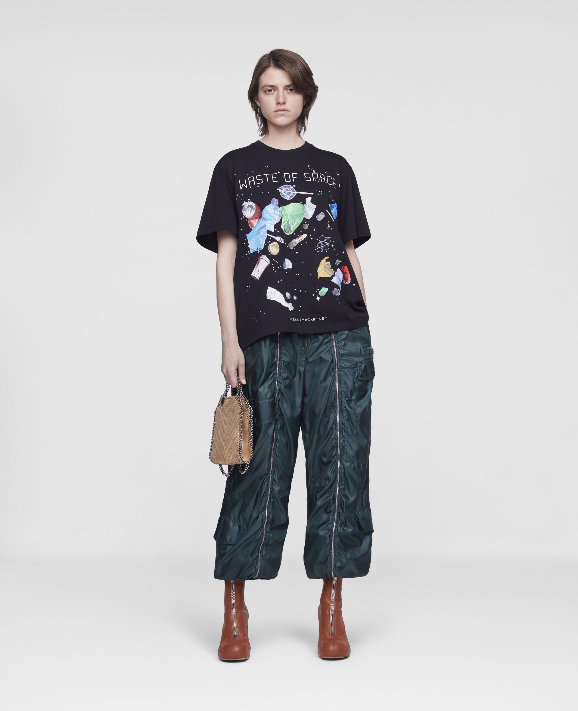 """T-Shirt """"Waste Of Space""""-Nero-large image number 1"""