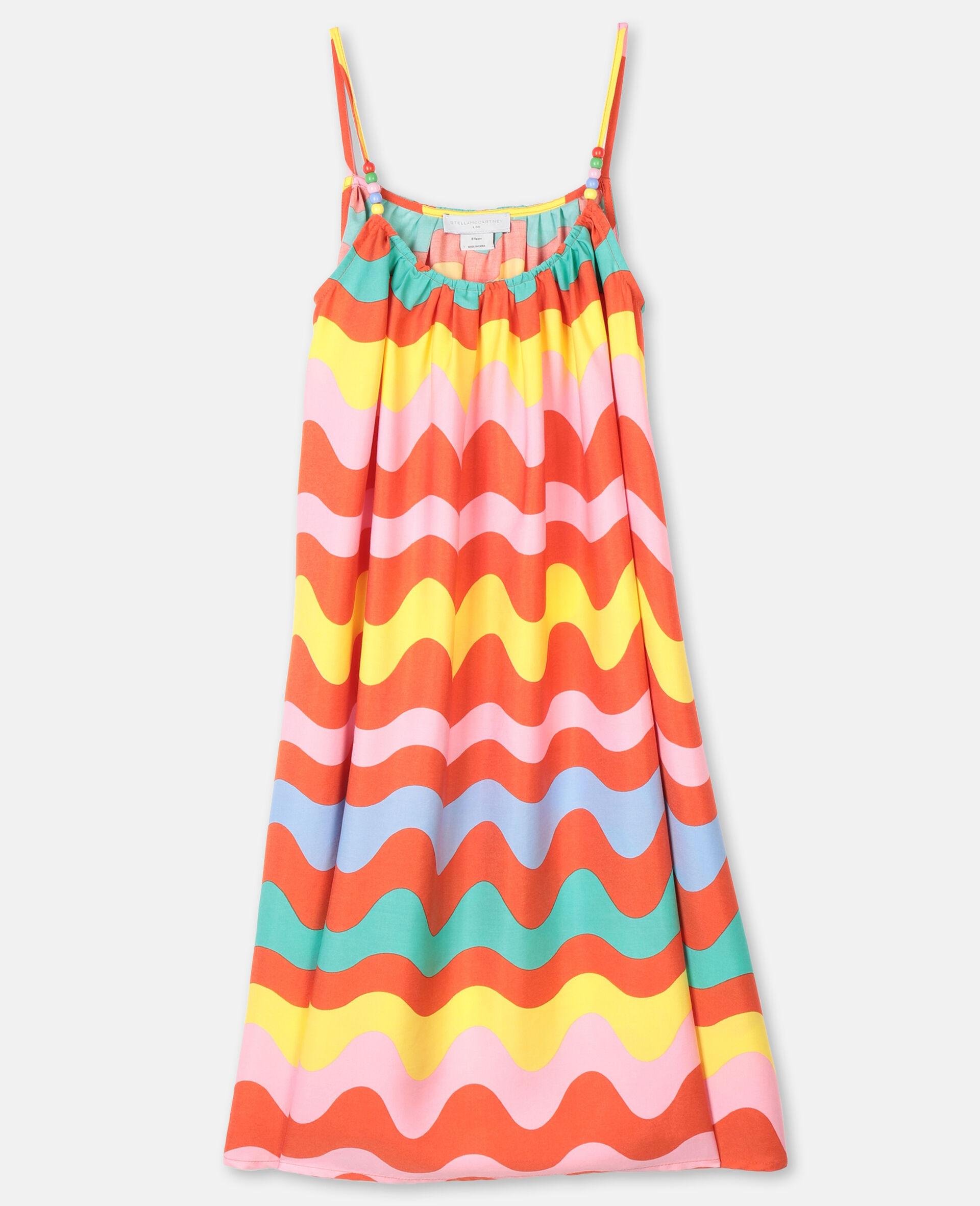 Swiggle粘胶纤维连衣裙-Multicolored-large image number 0