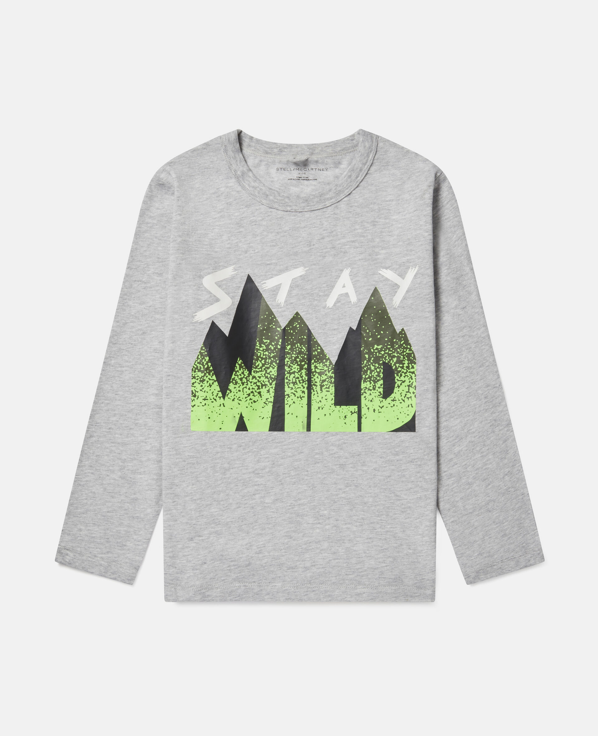 Oversized 'Stay Wild' Top-Grey-large image number 0