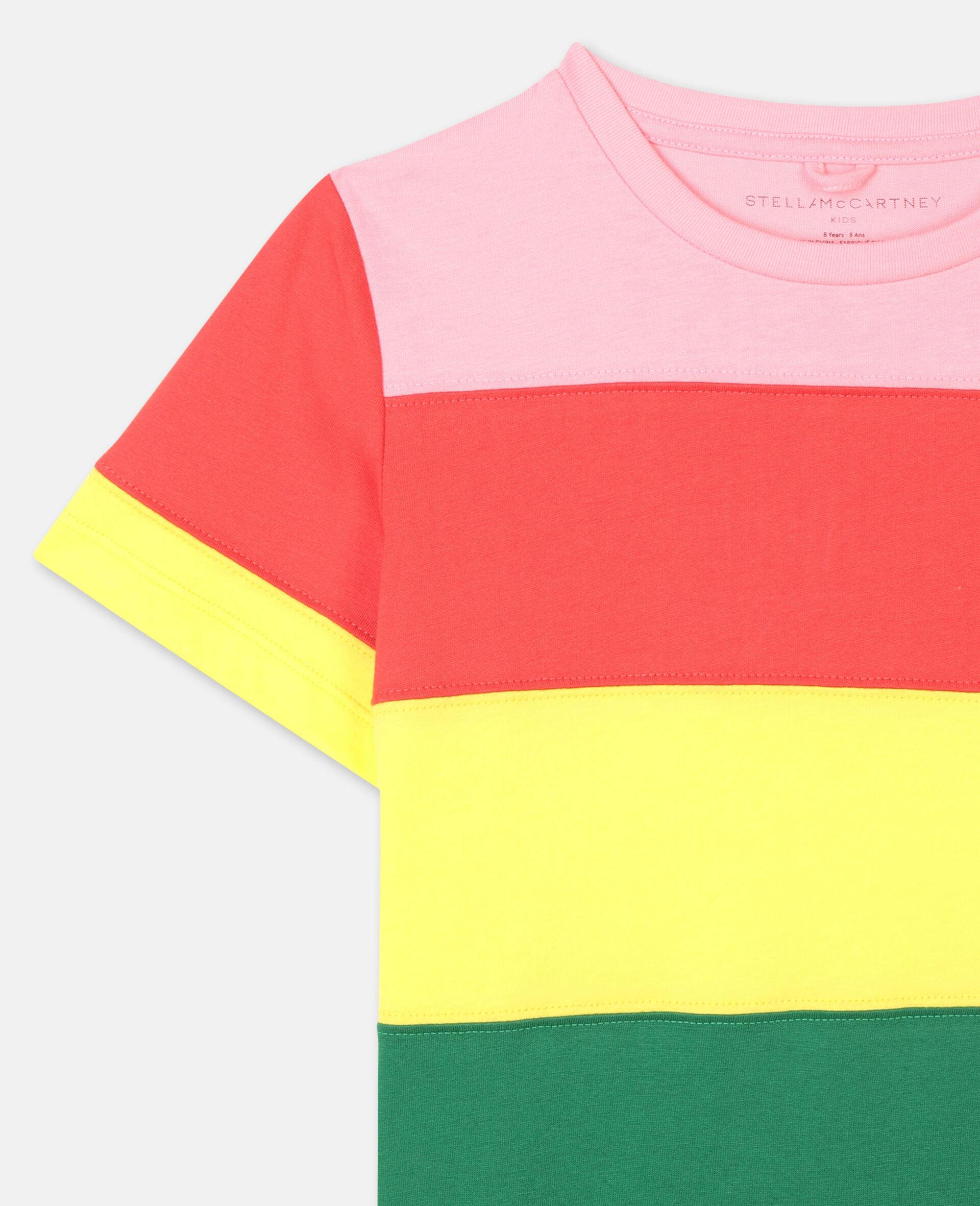 Striped Cotton T-shirt-Multicolour-large image number 1