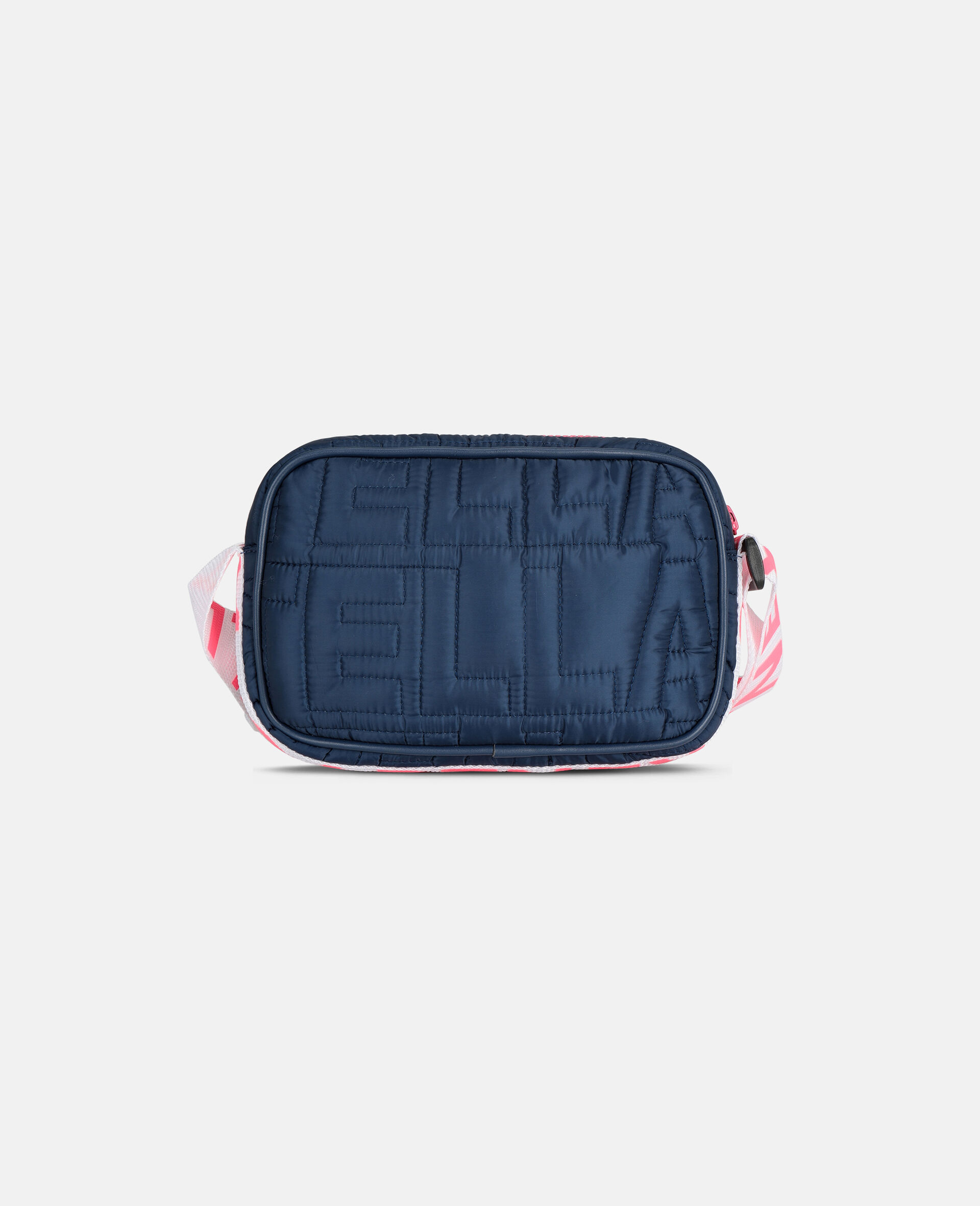Logo Quilted Shoulder Bag -Blue-large image number 3