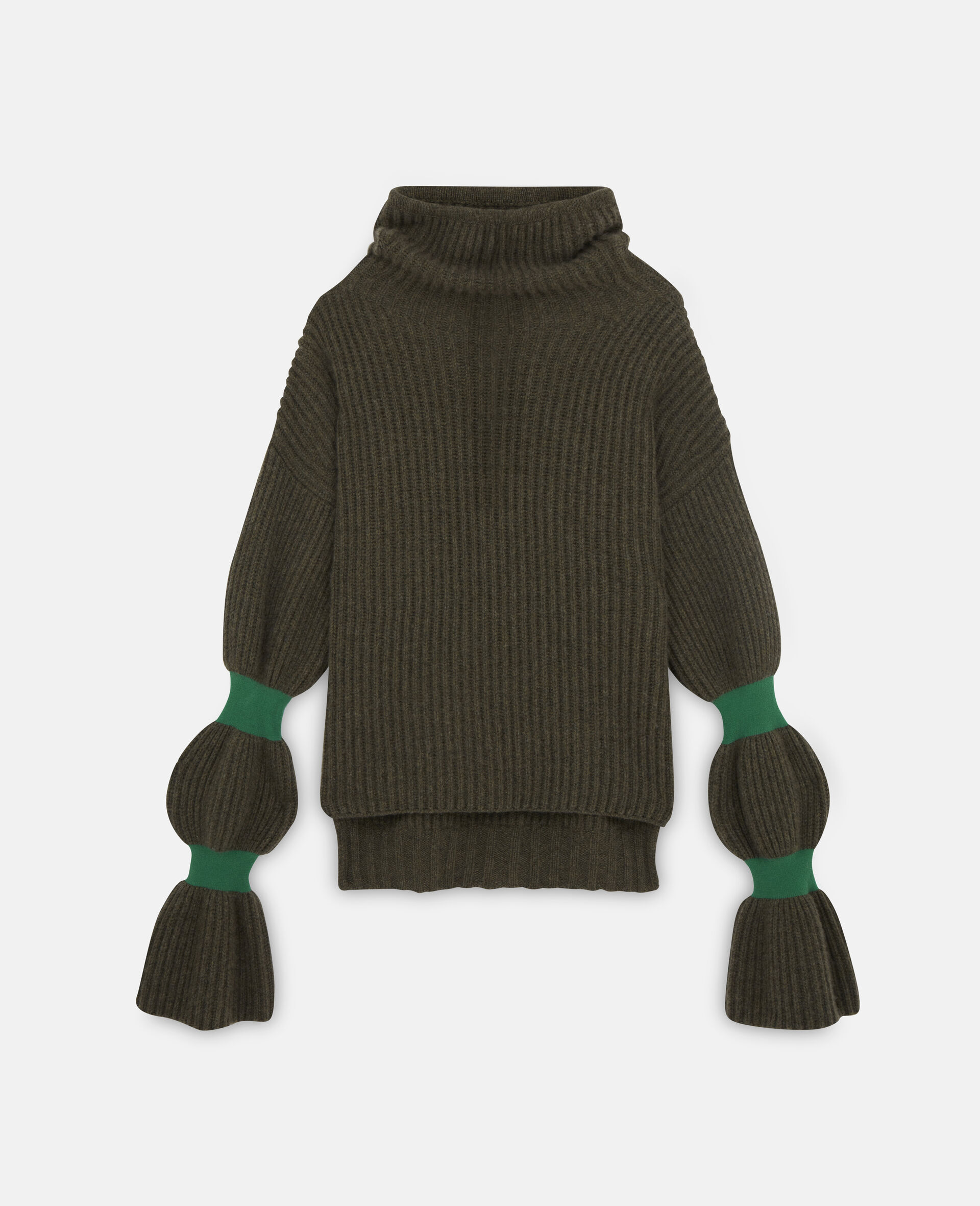 Weicher, voluminöser Pullover-Grün-large image number 0
