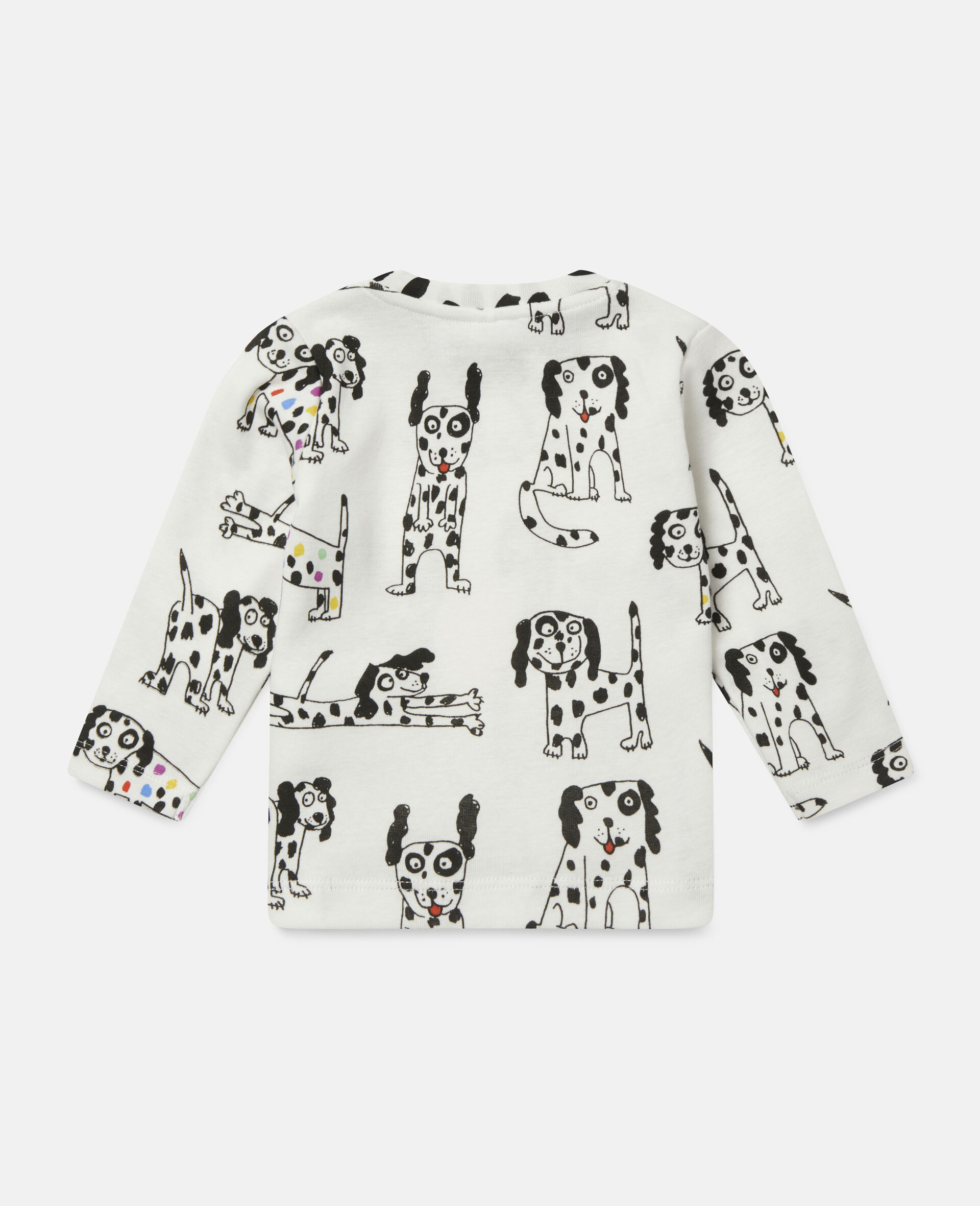 Doodle Dalmatians Jersey Rib Top-White-large image number 3