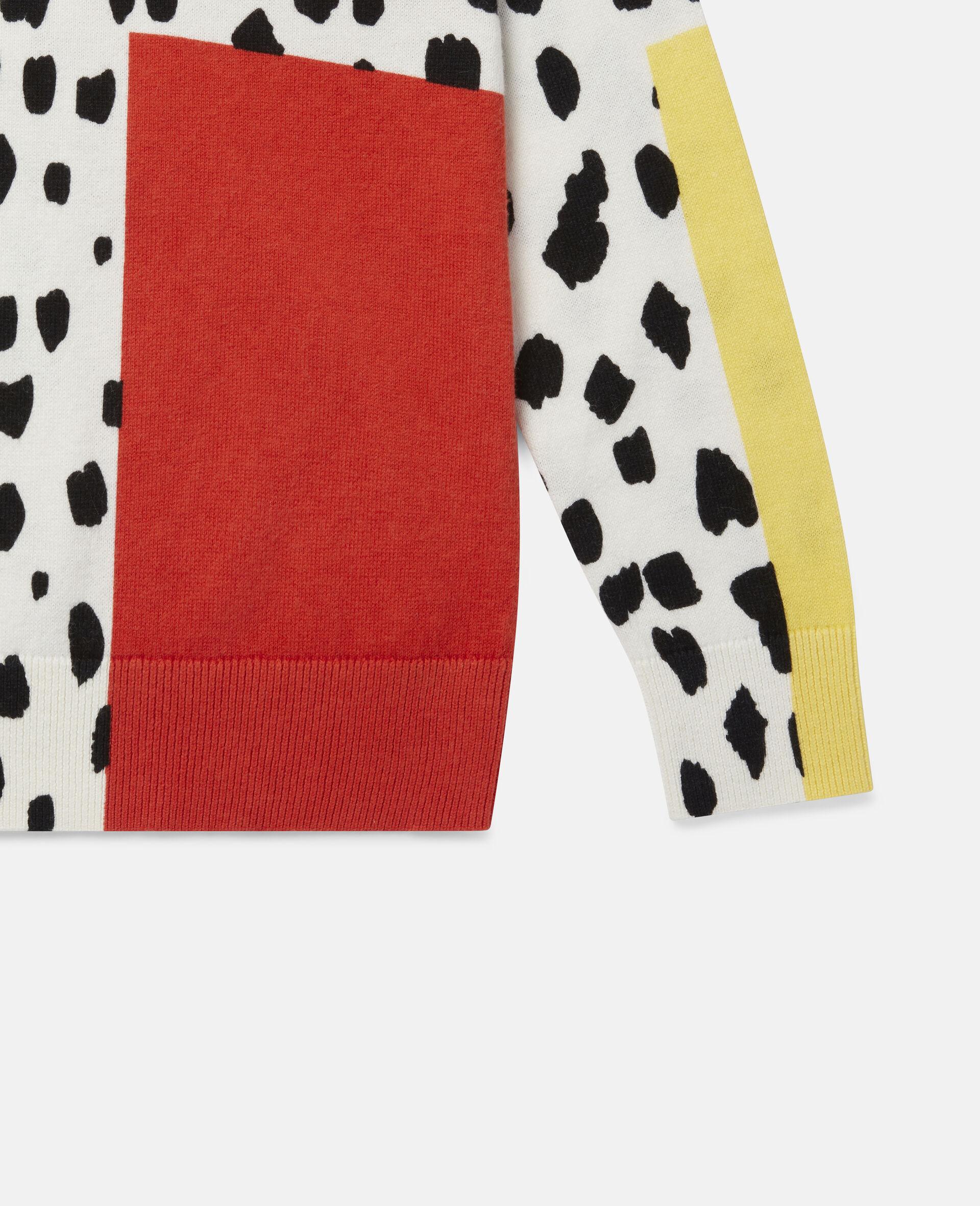 Pull en maille motif taches dalmatien-Fantaisie-large image number 2