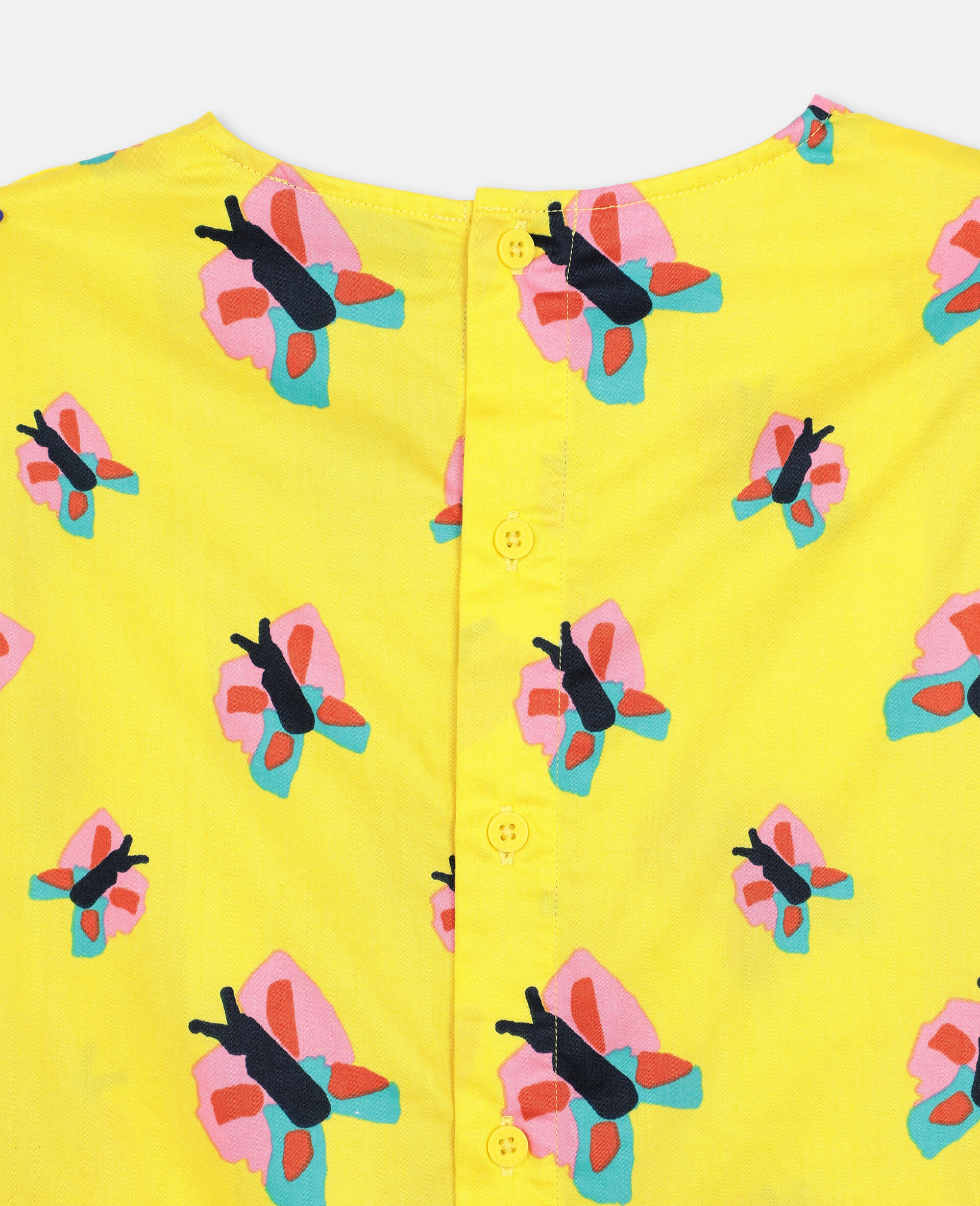 Butterfly Cotton Top-Yellow-large image number 2