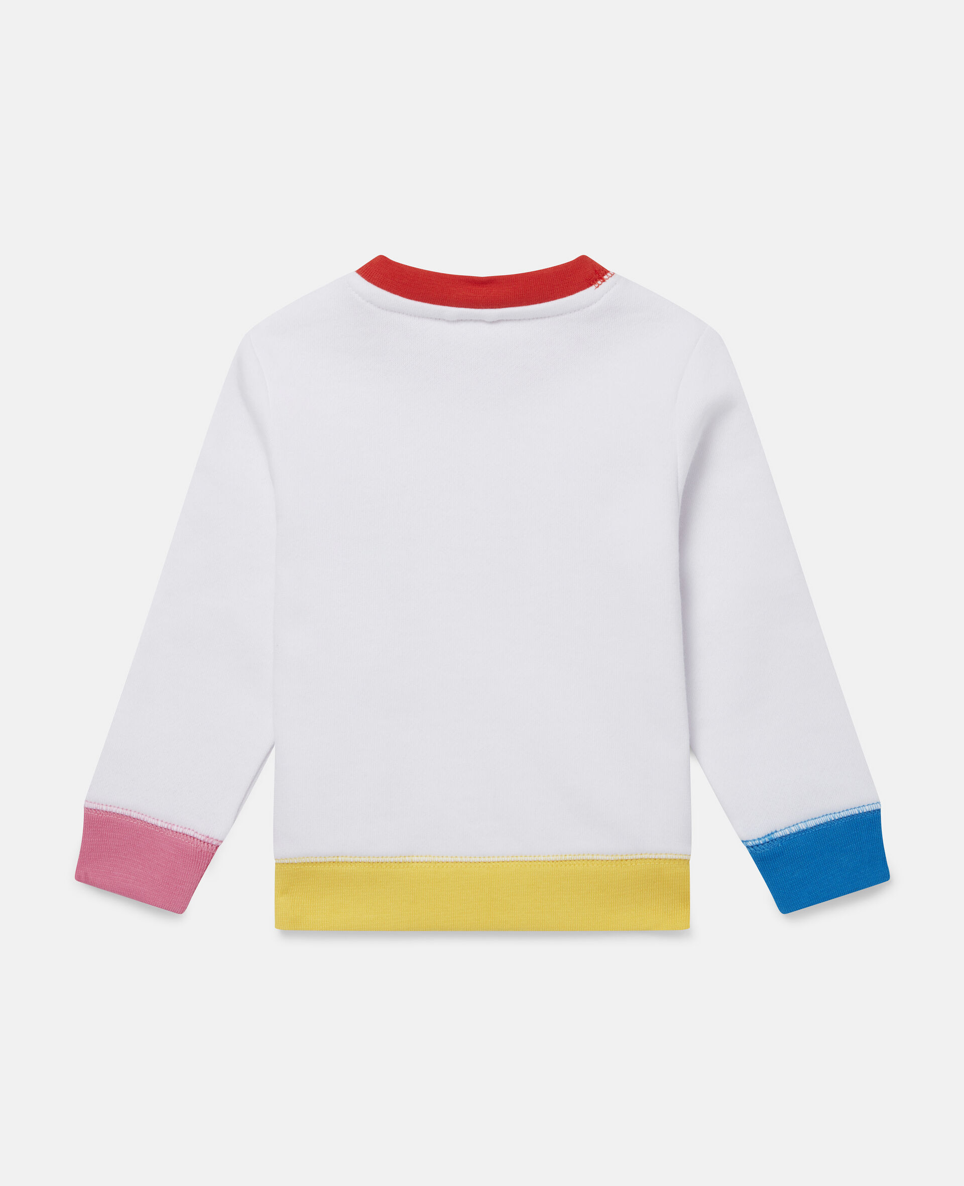 Fun Colourblock Fleece Sweatshirt-White-large image number 3