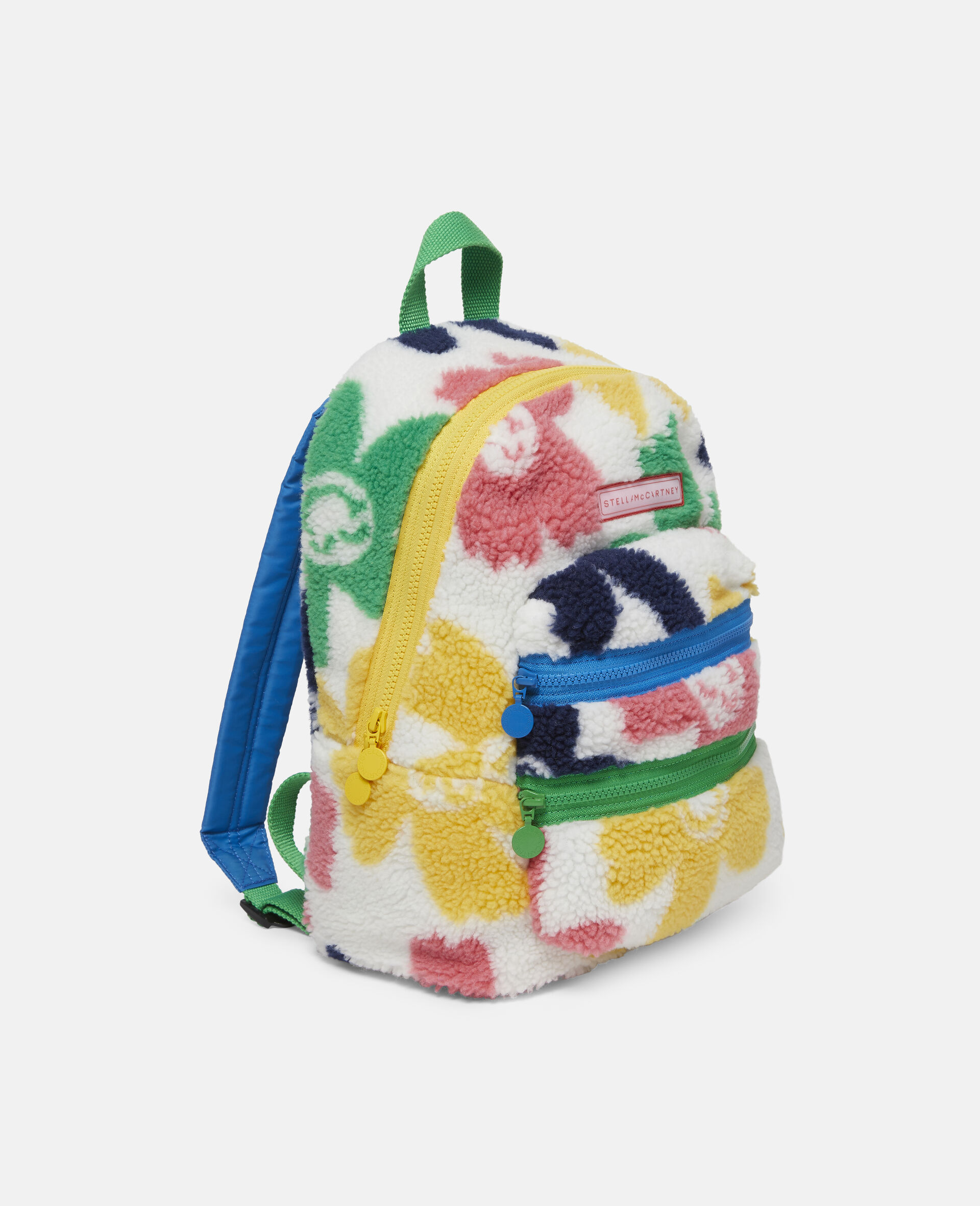 Happy Flowers Teddy Backpack-Multicolour-large image number 1