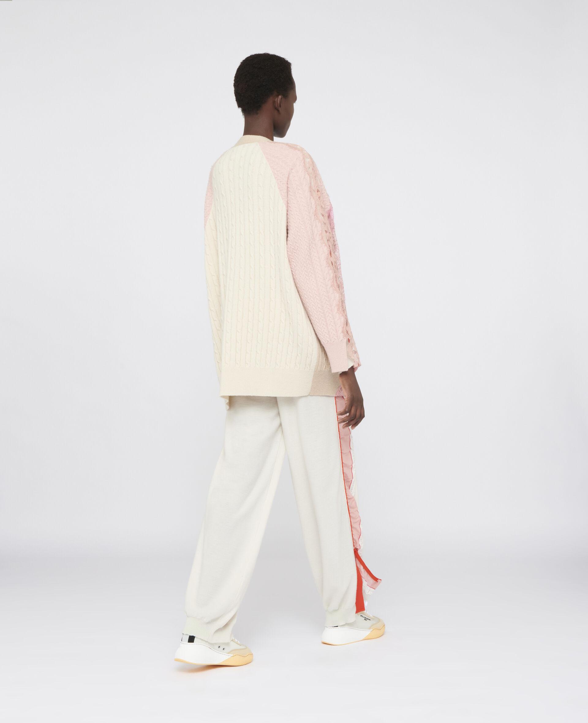 Oversized Wool Cardigan -Beige-large image number 2