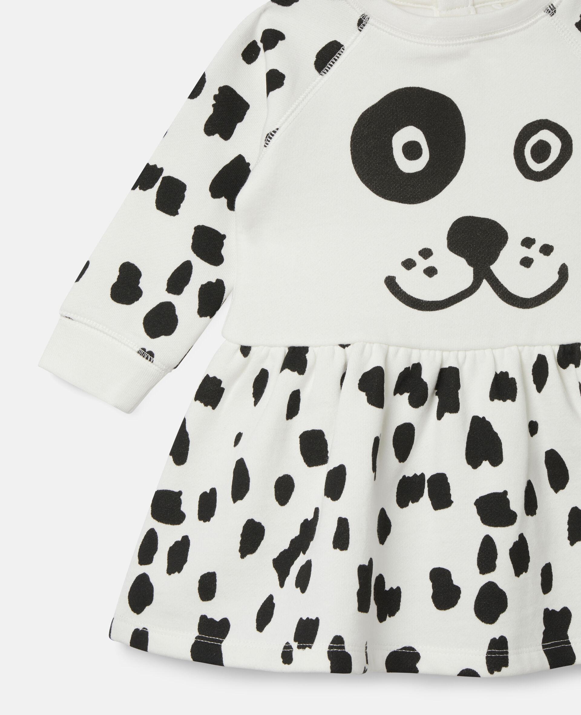 Kleid aus Fleece mit Dalmatinerflecken-Weiß-large image number 1