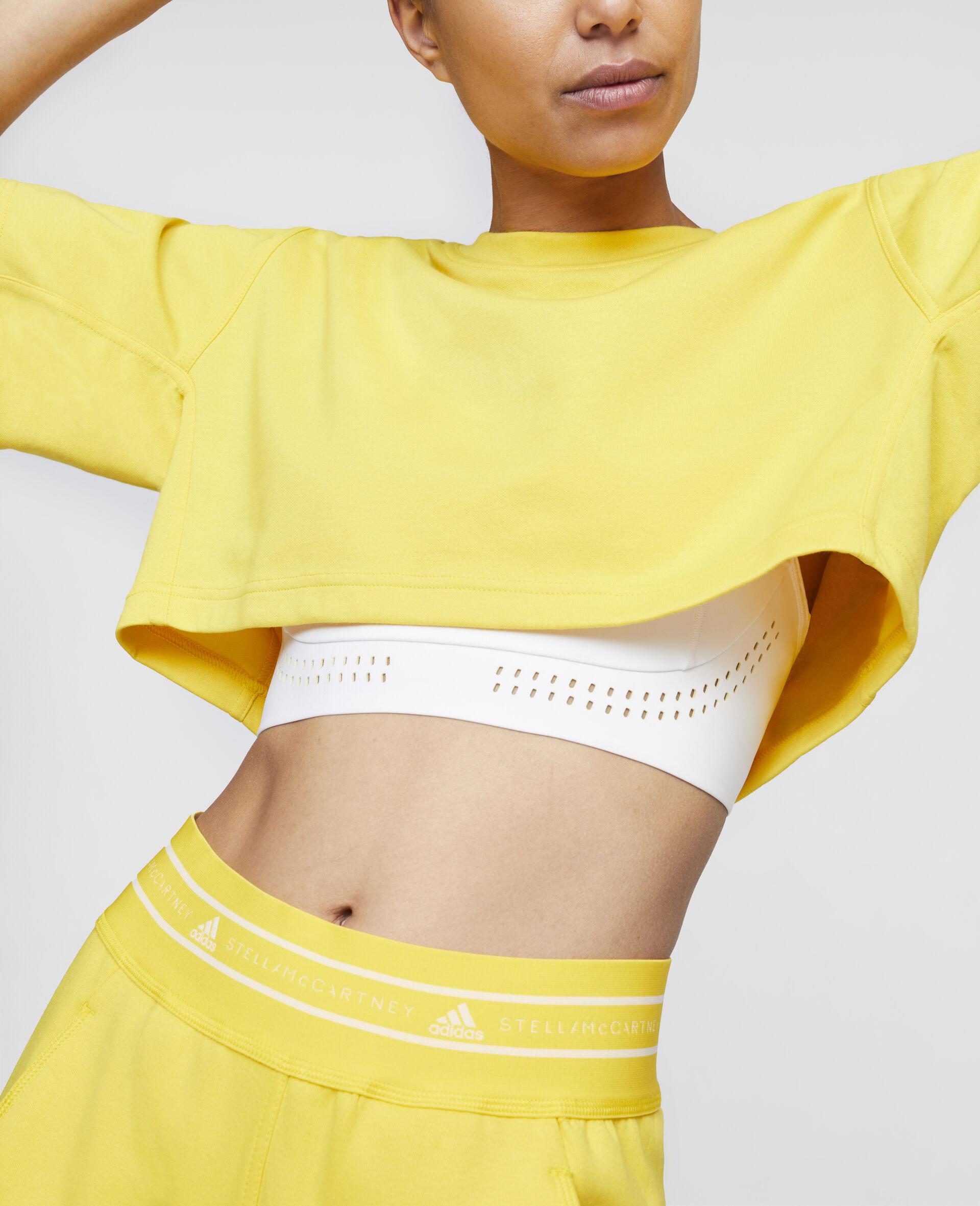 T-shirt crop d'entraînement jaune-Jaune-large image number 3