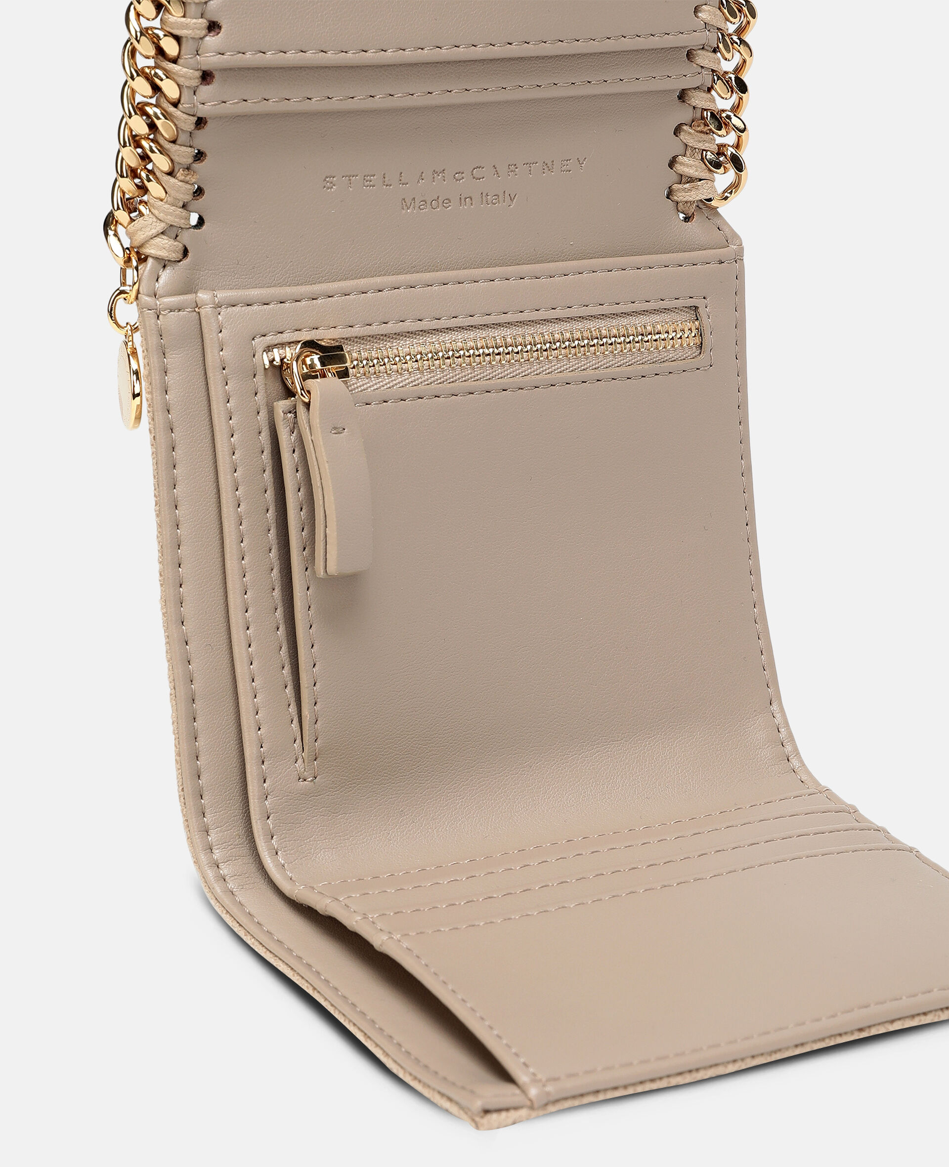 Falabella Small Flap Wallet-Beige-large image number 3