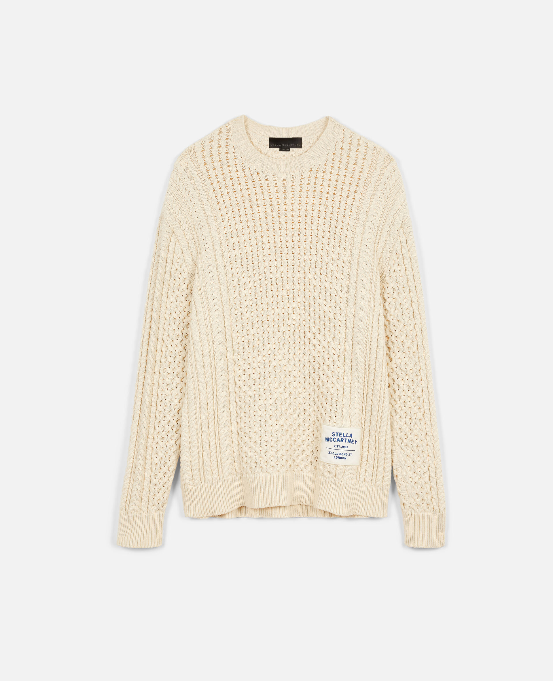 Aran Stitch Sweater-Beige-large image number 0