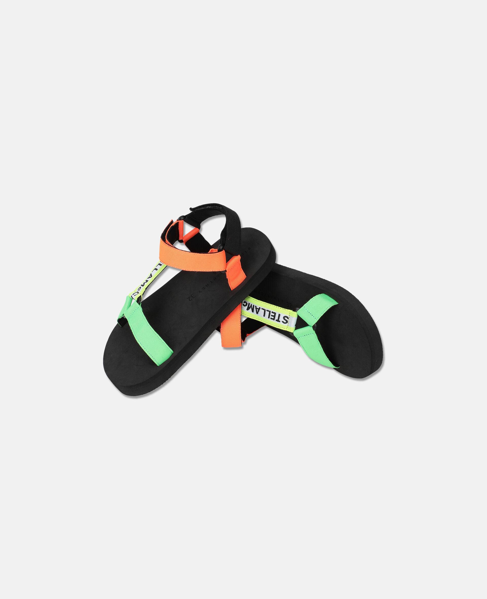 多色粘带凉鞋 -Multicolored-large image number 1