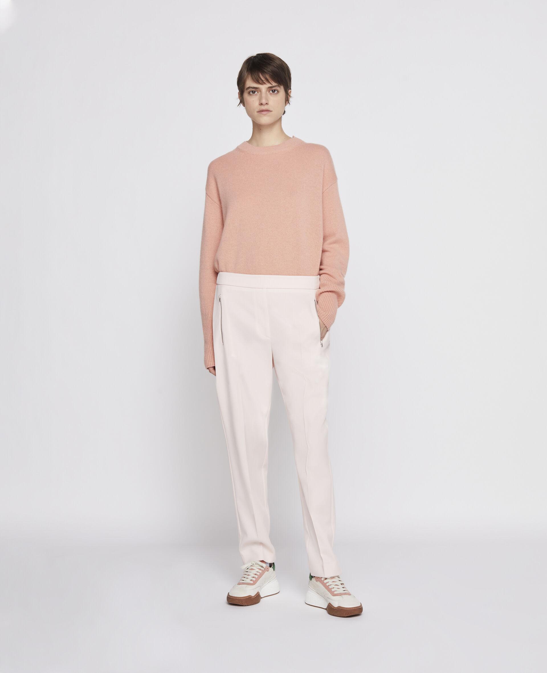 Pullover in Cashmere Rigenerato-Grigio-large image number 1