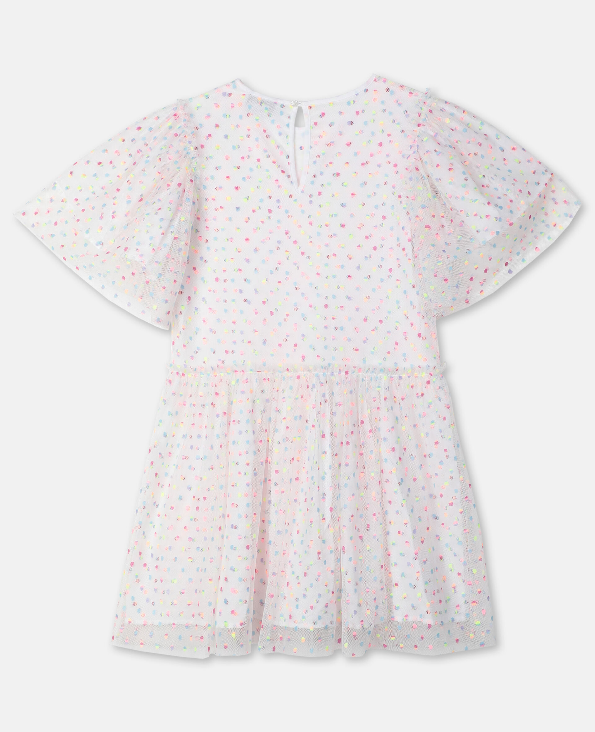 Embroidered Dots Tulle Dress -Multicolour-large image number 3