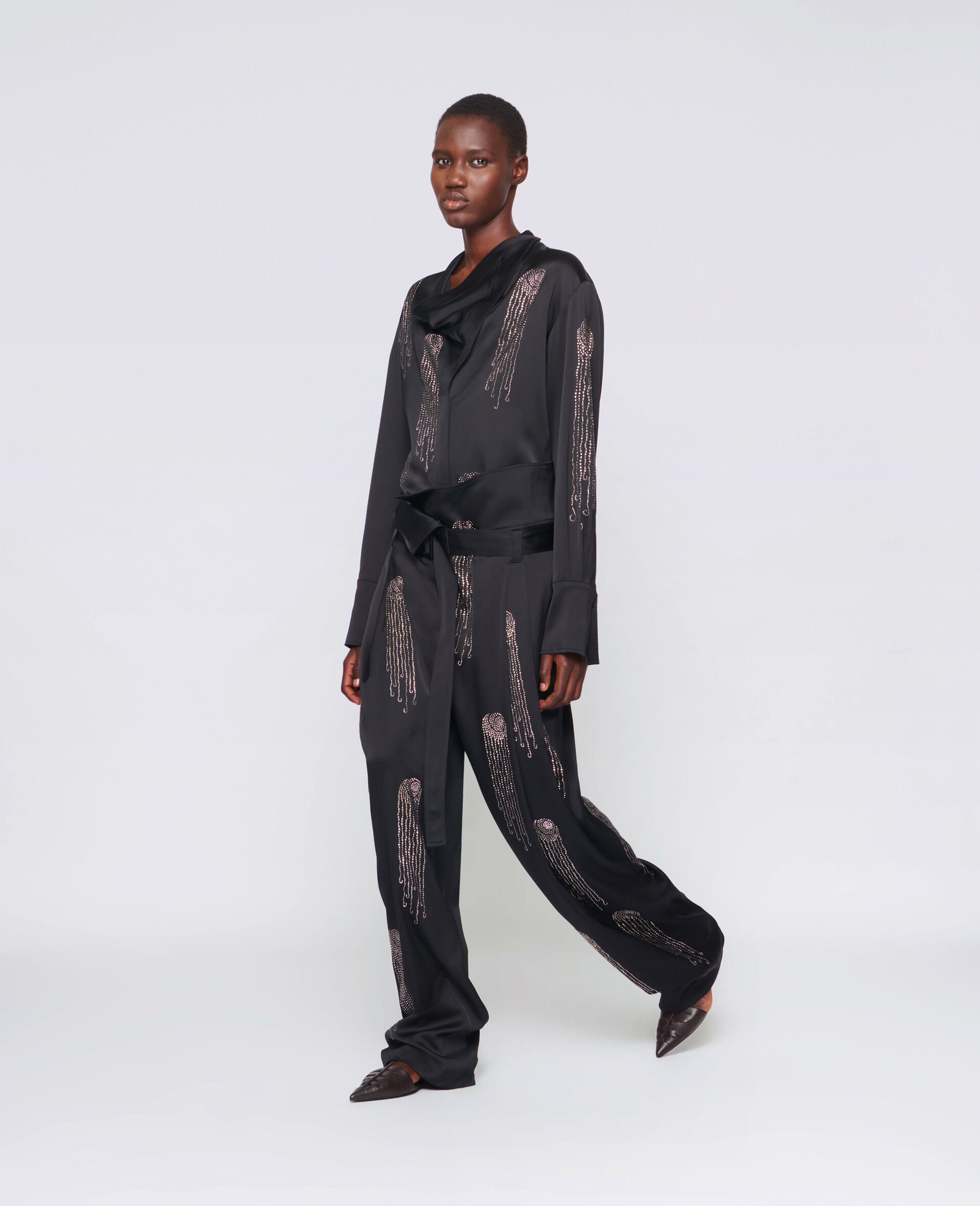 Londyn Hotfix Trousers-Black-large image number 1