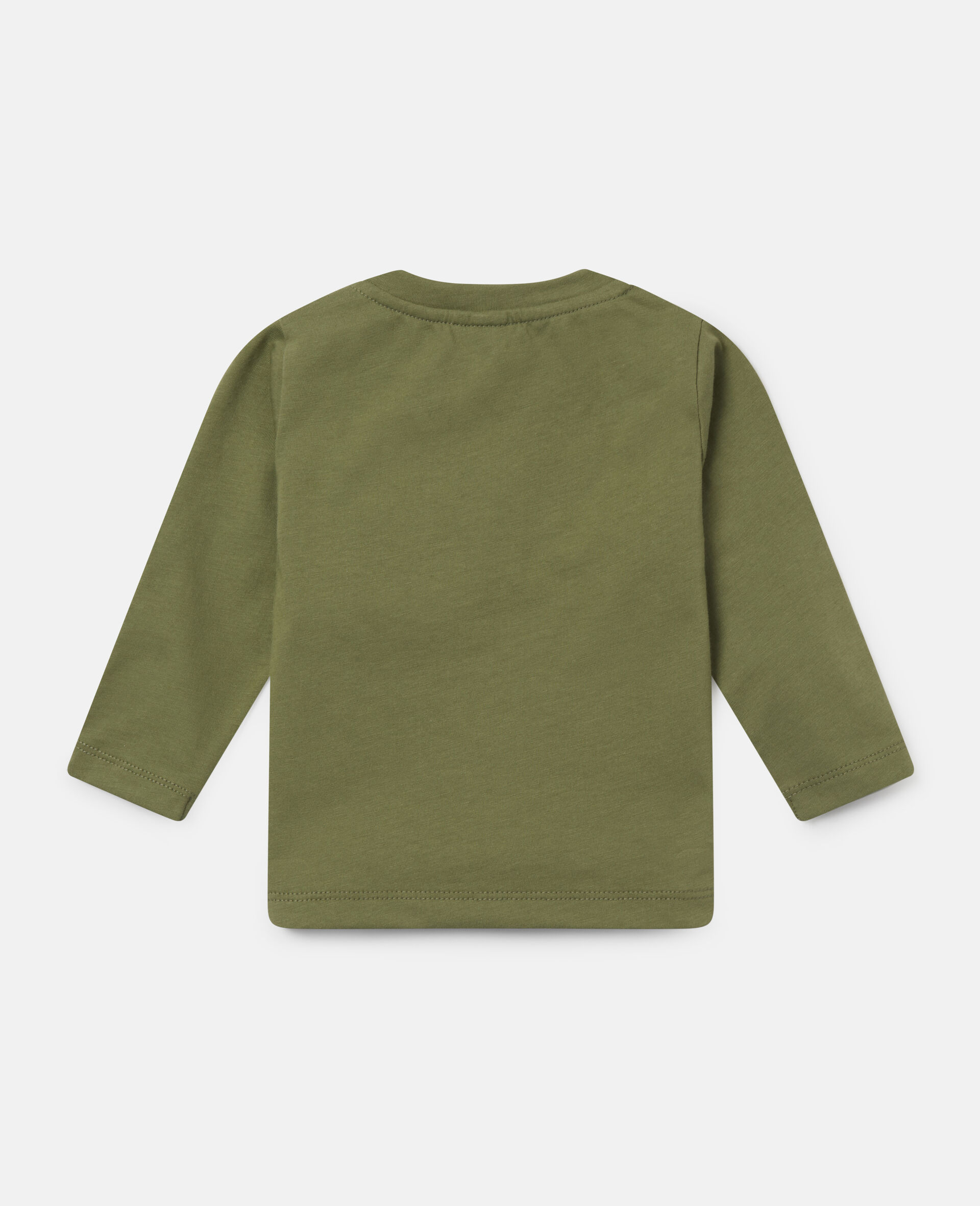 'Stay Wild' Cotton Top-Green-large image number 3