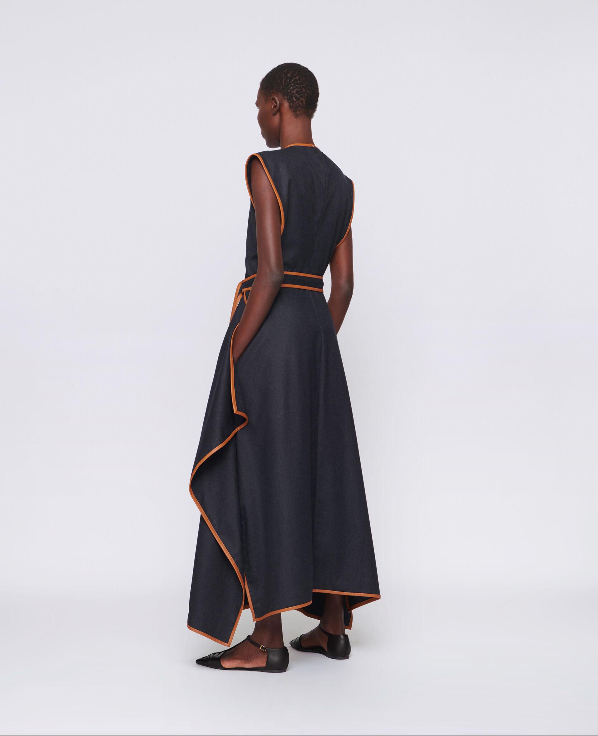 Eloise Wool Flannel Dress-Blue-large image number 2