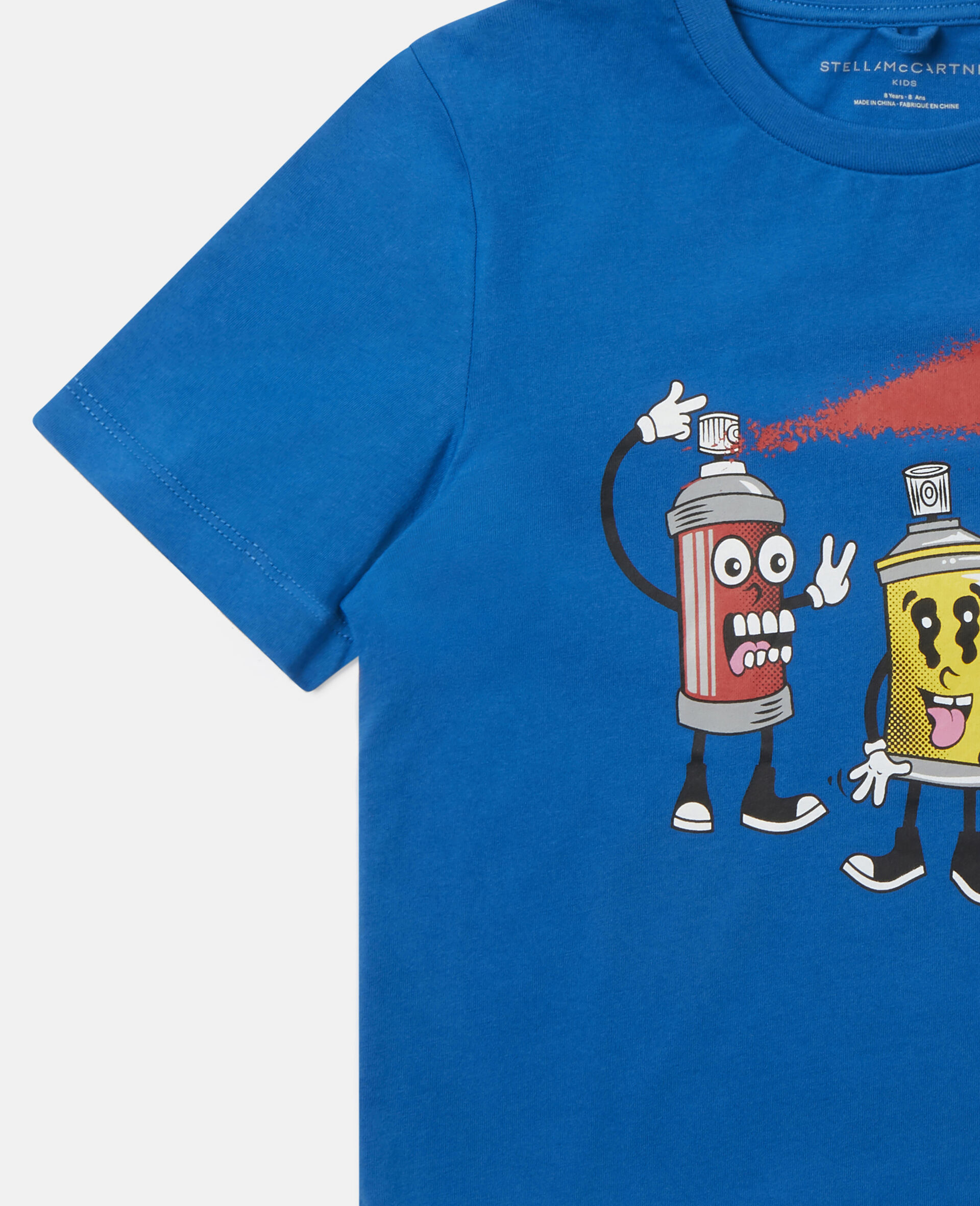 Spray Gang Cotton T-shirt-Blue-large image number 2