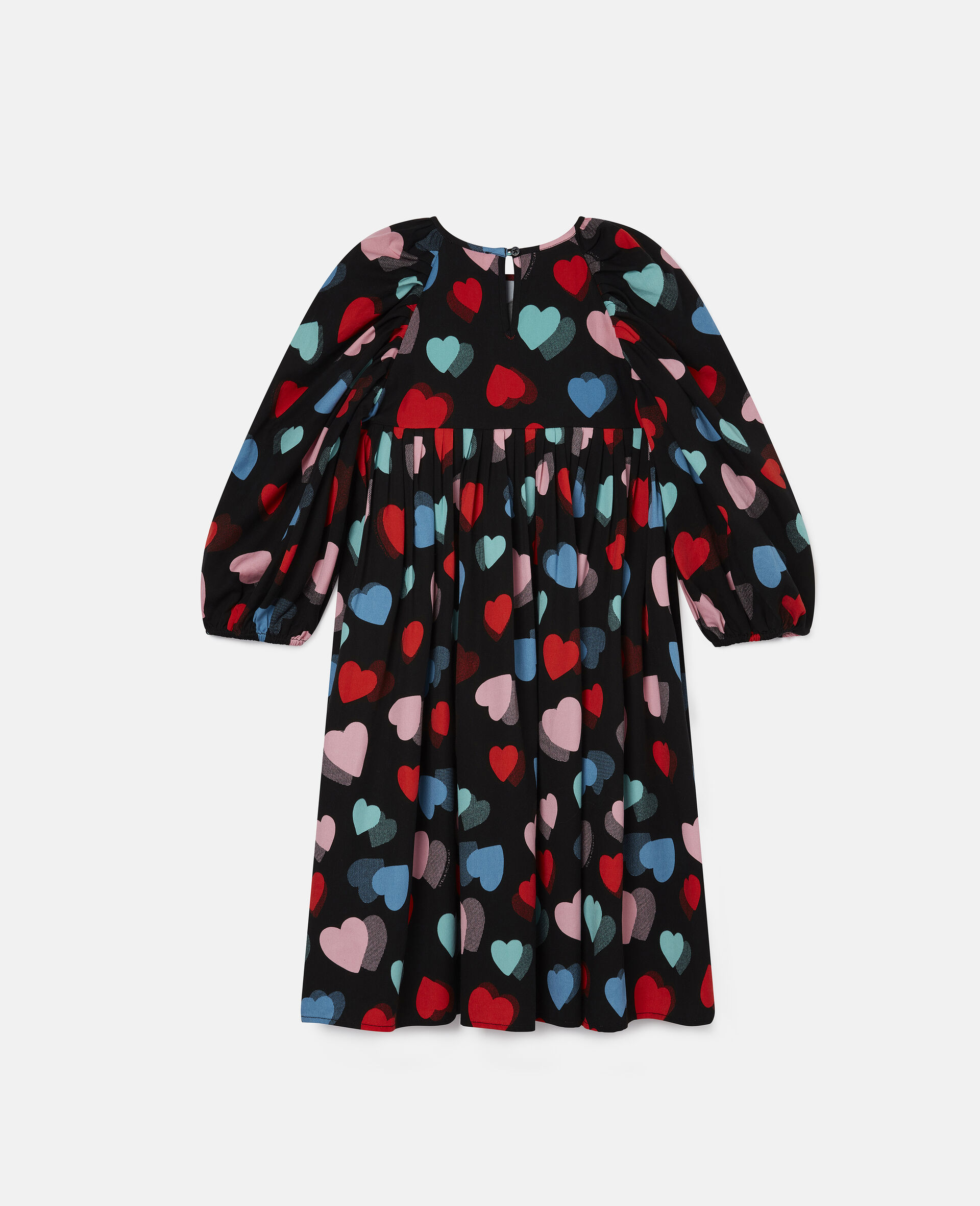 Hearts Tencel Twill Dress-Multicolour-large image number 3