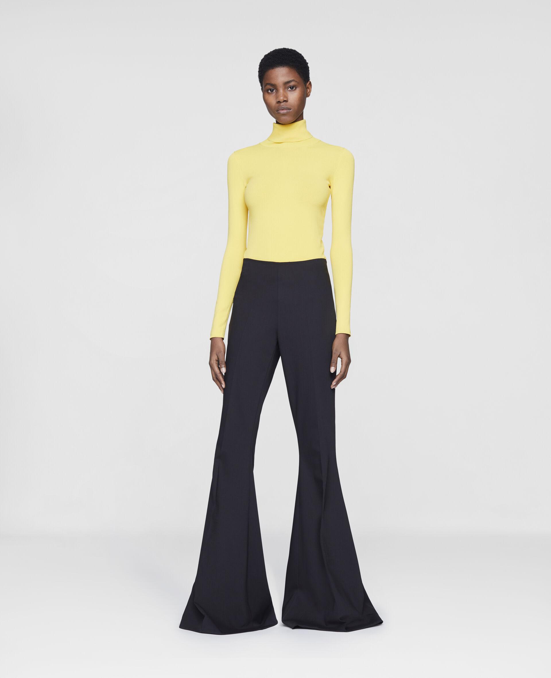 Mona Flared Trousers-Black-large image number 1