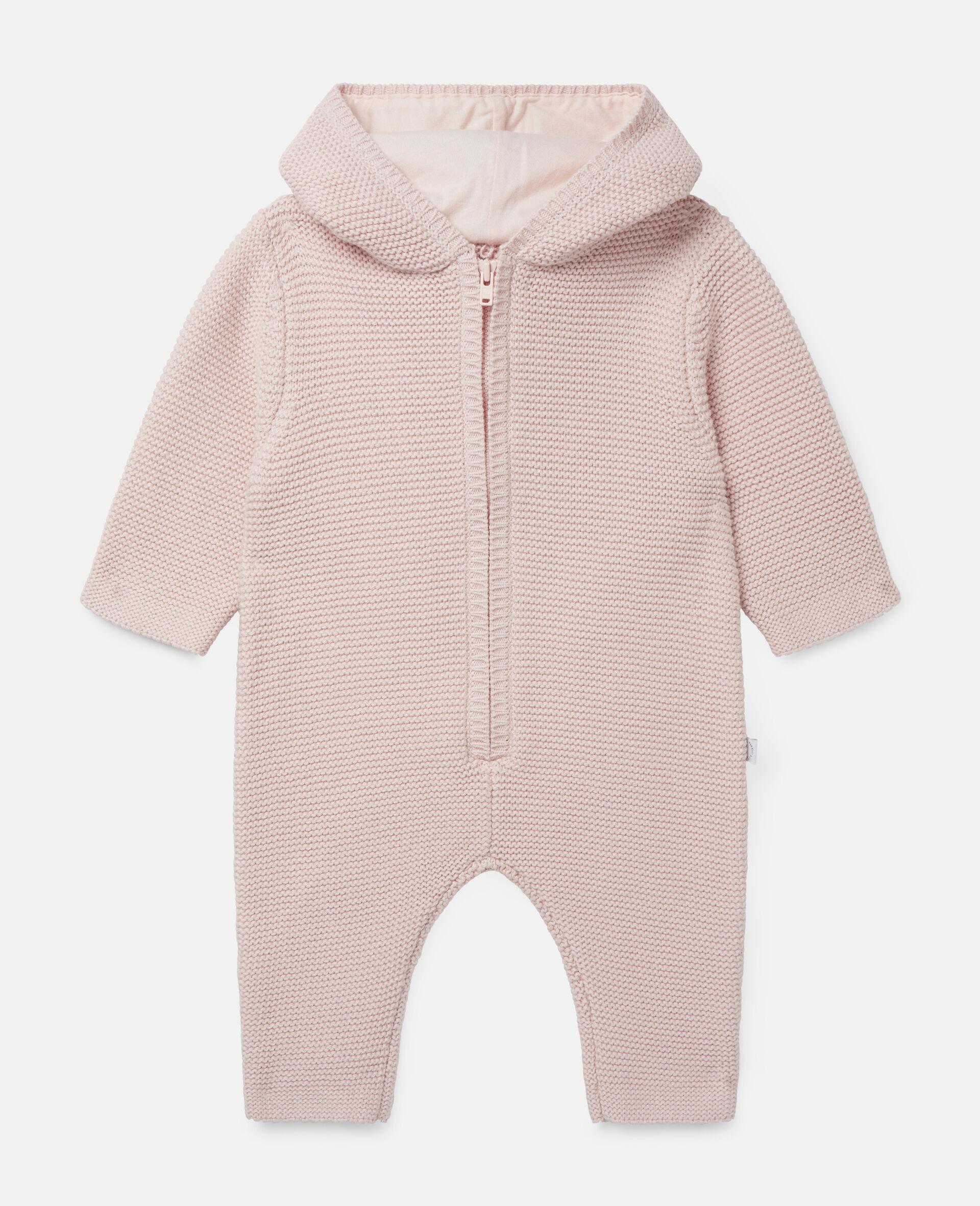 Doggie Knit Jumpsuit-Pink-large image number 0