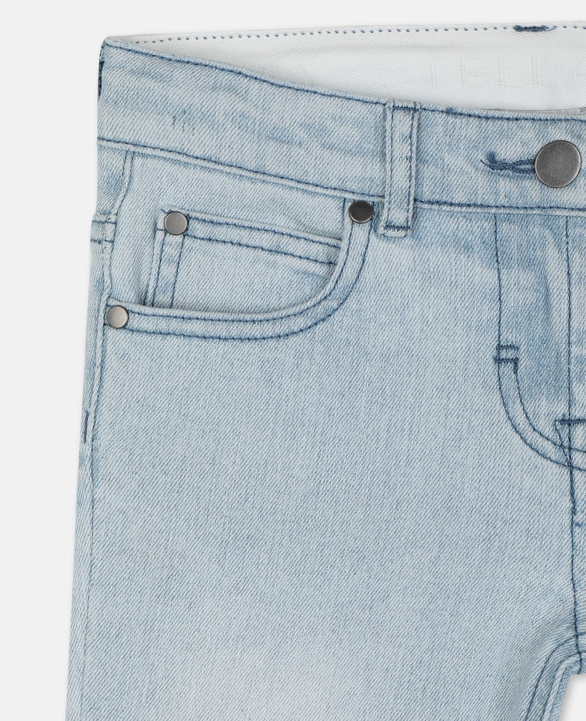 紧身牛仔裤-蓝色-large image number 1