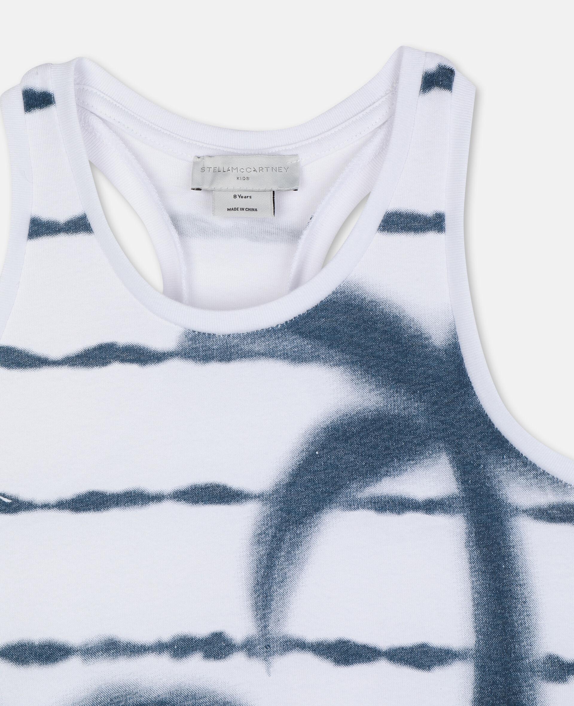 Baumwoll-Top mit Palmen-Weiß-large image number 1