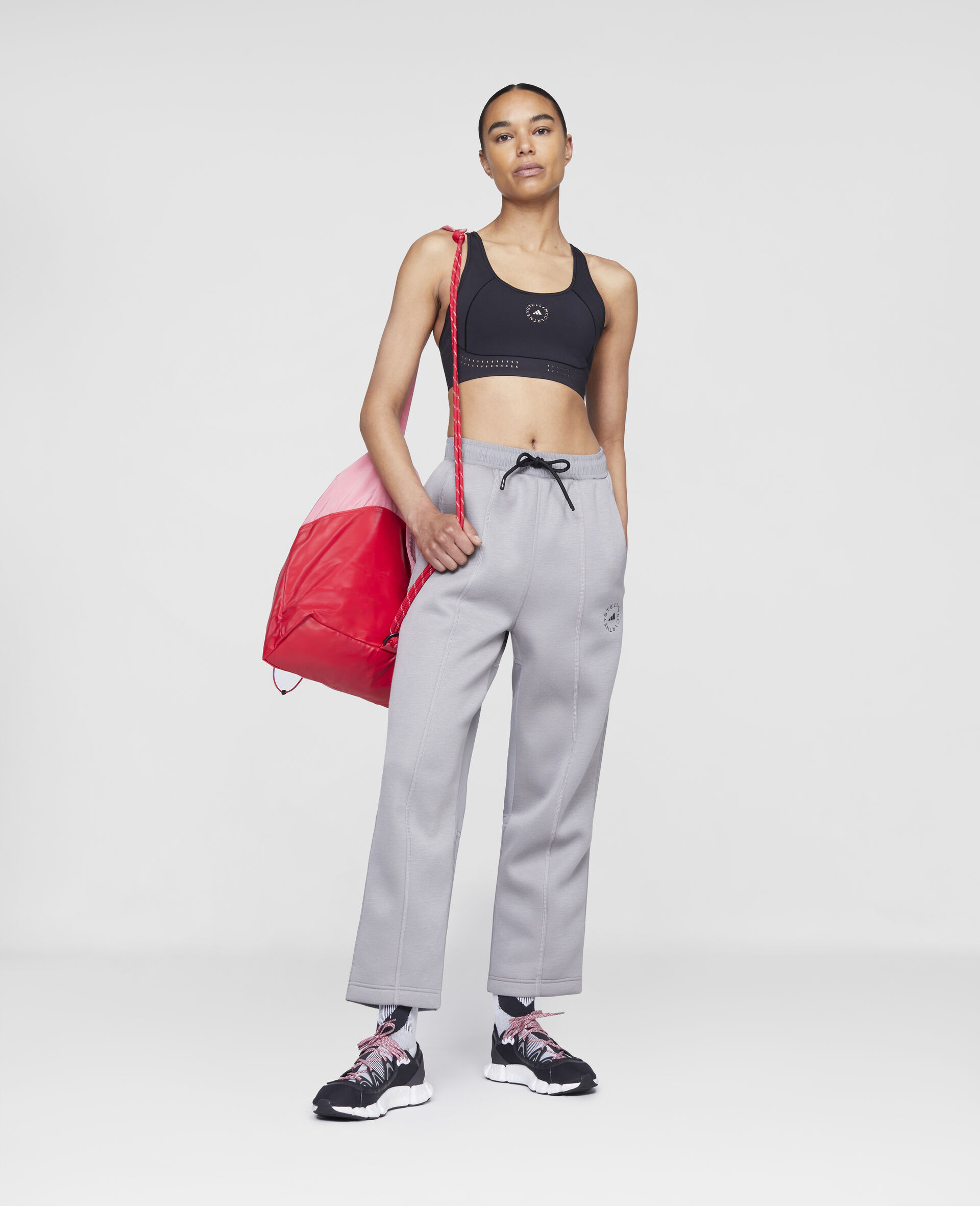Grey Track Pants-Grey-large image number 1
