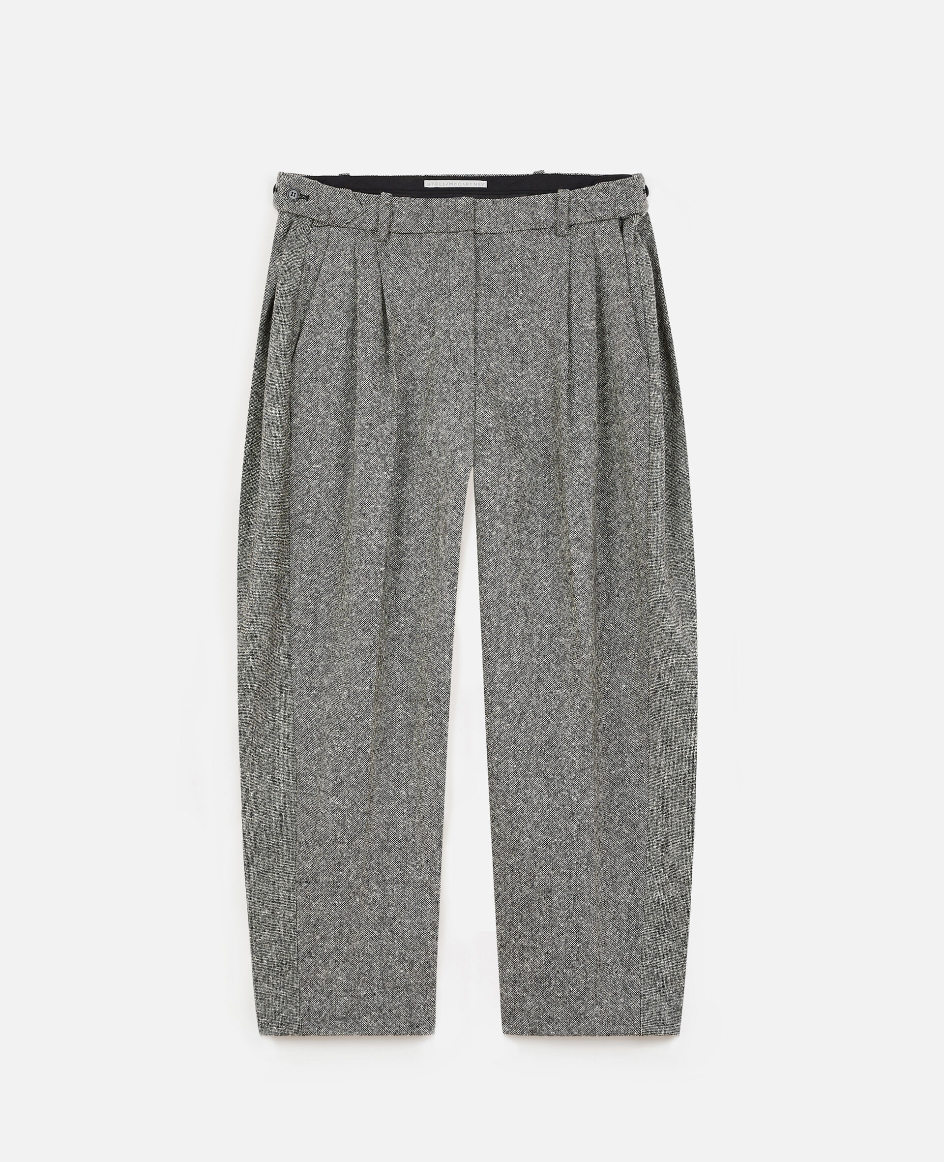 Wool Flanel Trousers -Grey-large image number 0