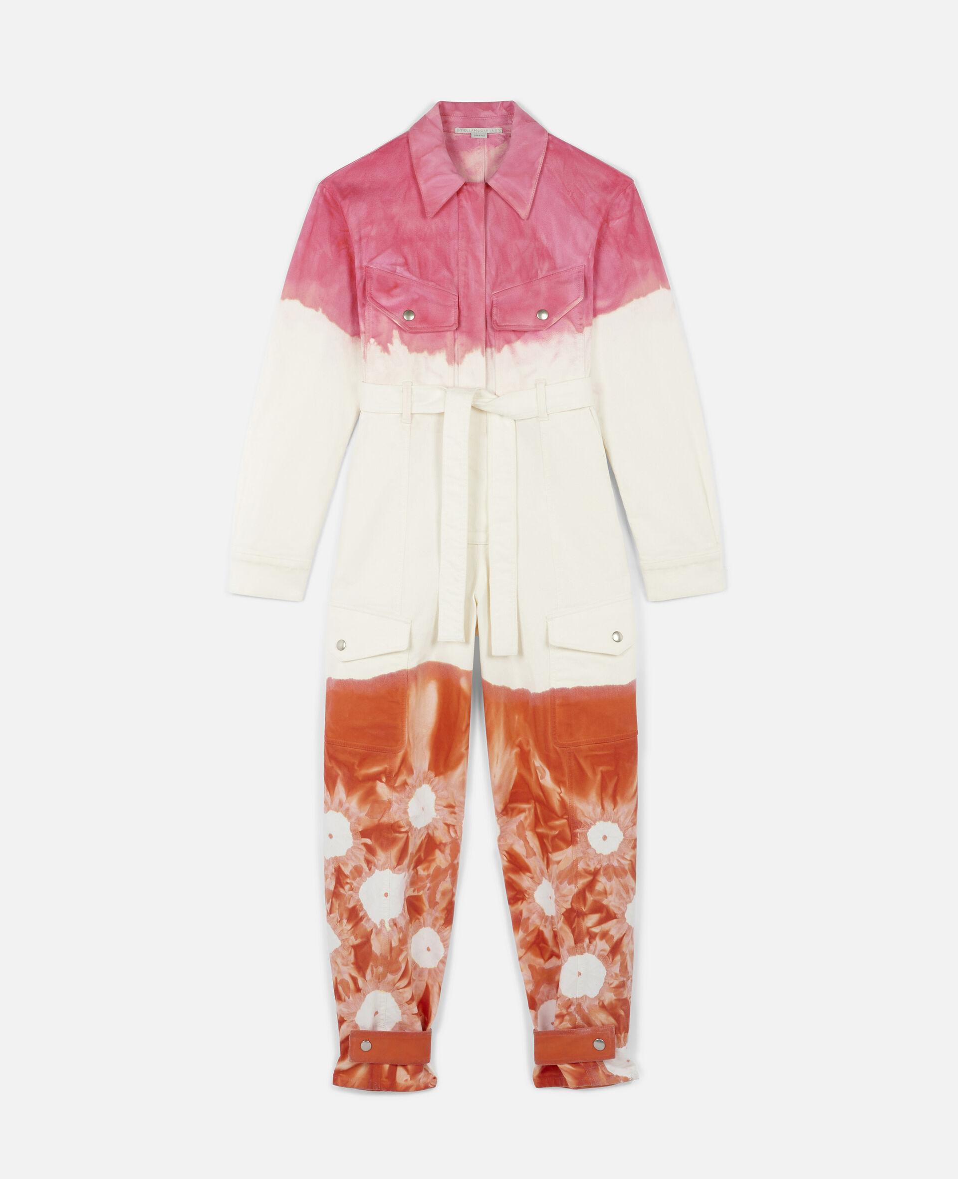 Fluo Wash Denim Jumpsuit-Multicolour-large image number 0