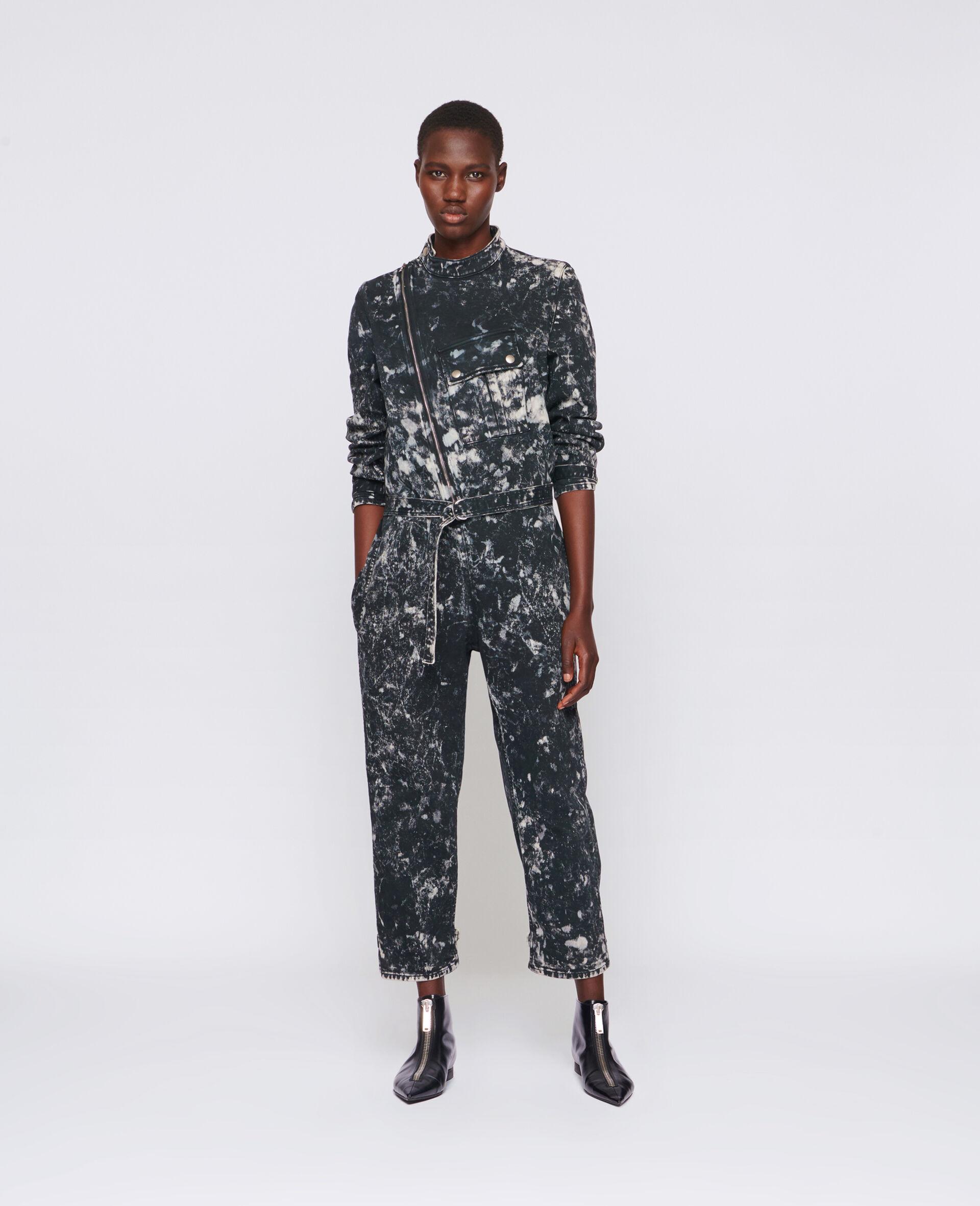 Holly Denim Jumpsuit-Black-large image number 1