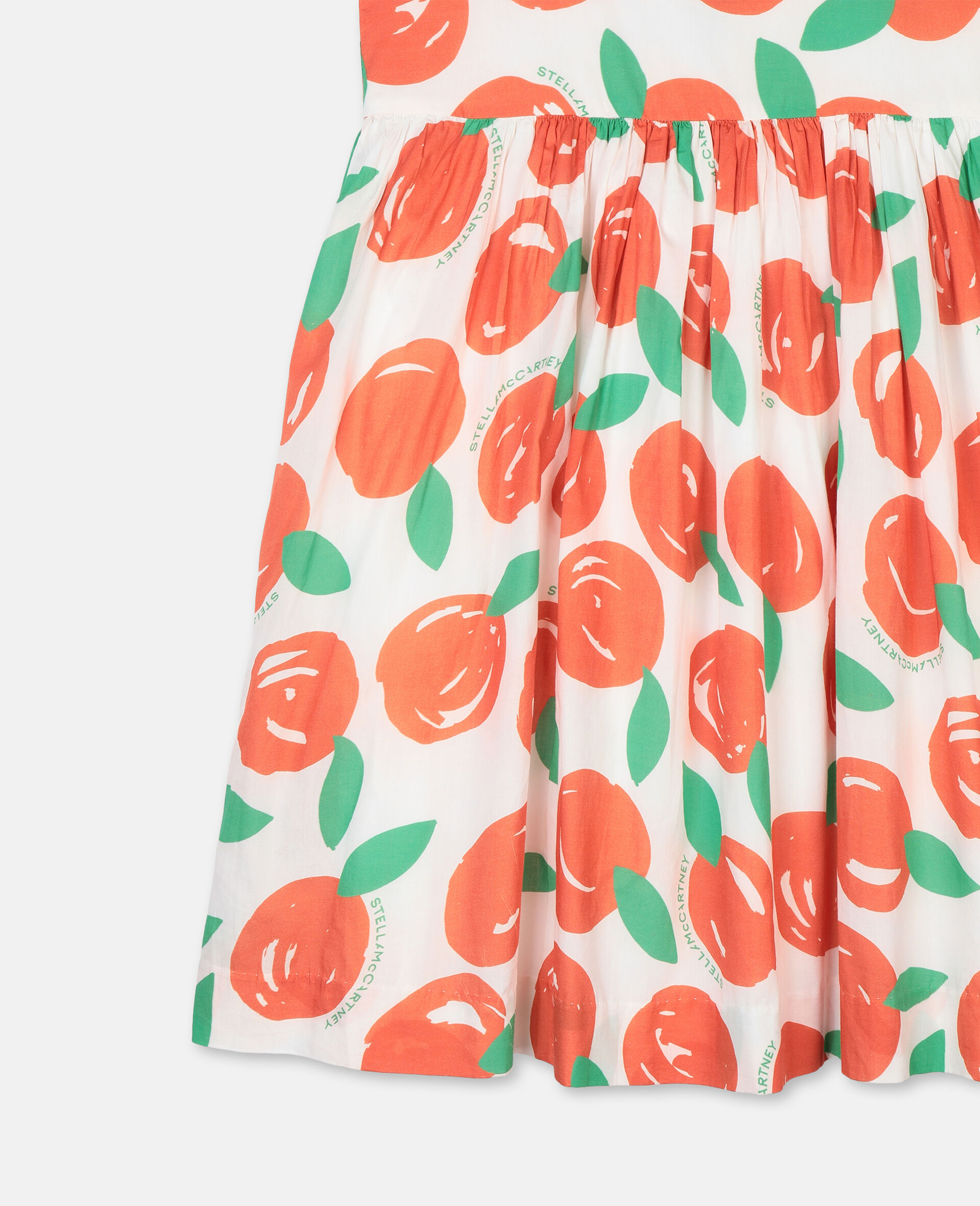 Clementines Cotton Dress-Red-large image number 1