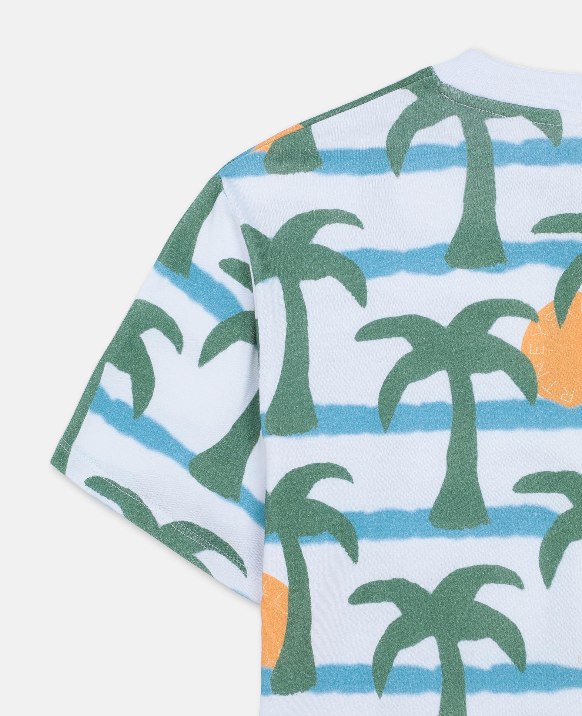 Oversize Palm Cotton T-shirt -Multicolour-large image number 2
